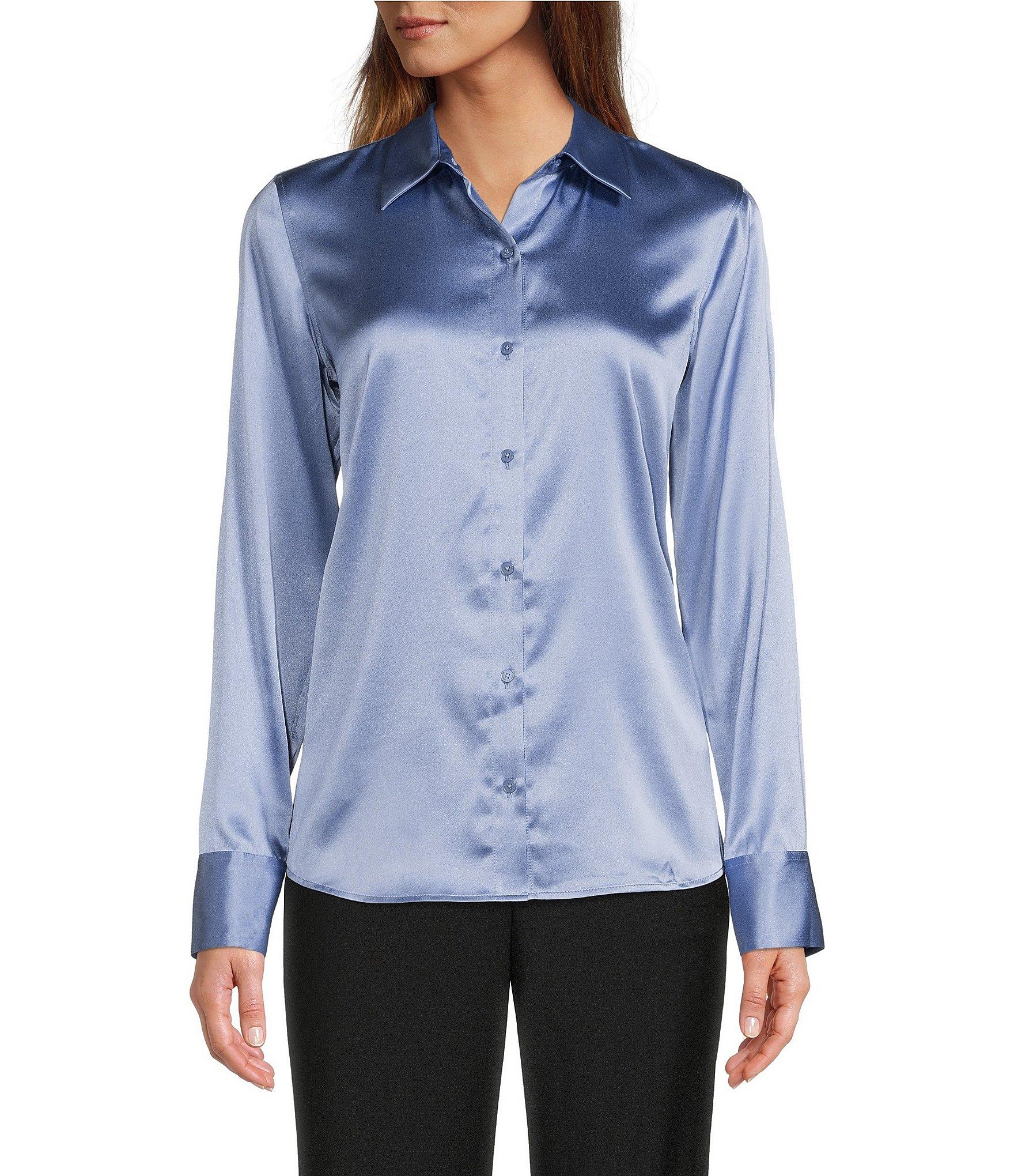 Button-Front Shirt Women's Casual & Dressy Tops & Blouses | Dillard's