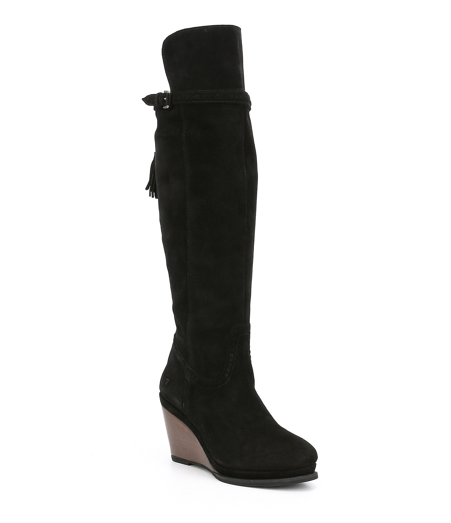 ariat knoxville suede wedge boots dillards