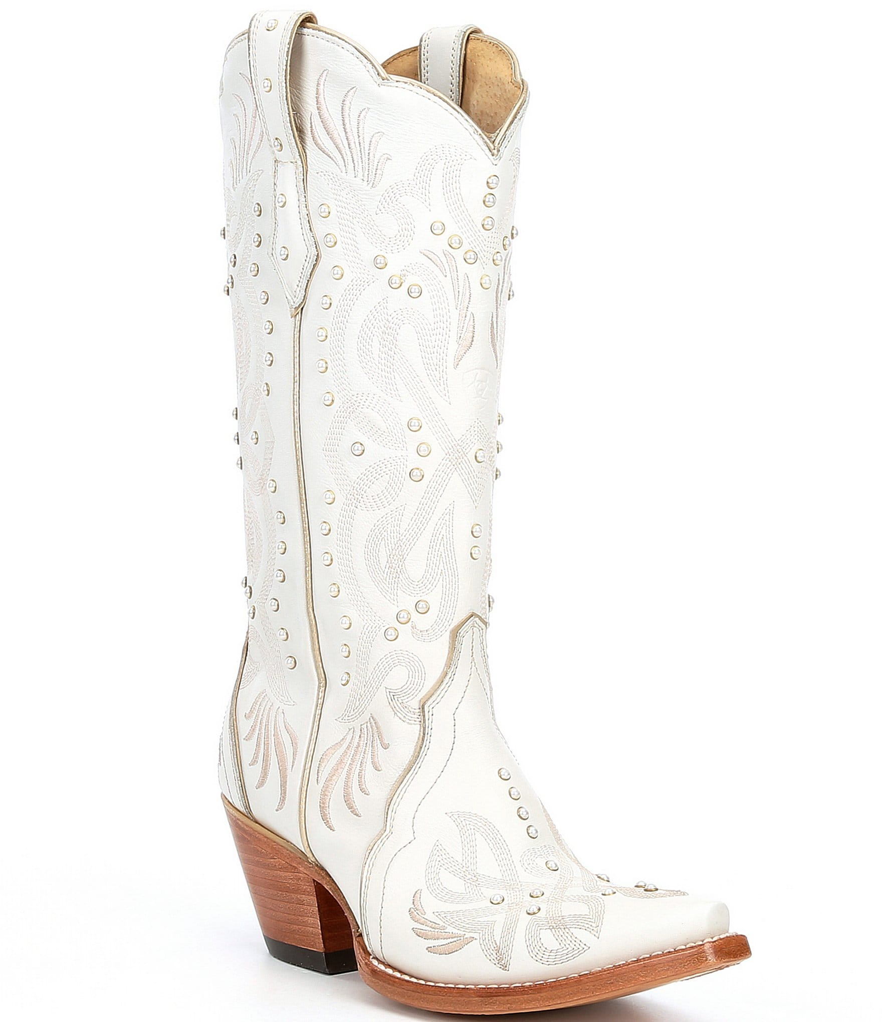 Ariat Pearl Embellished Leather Block