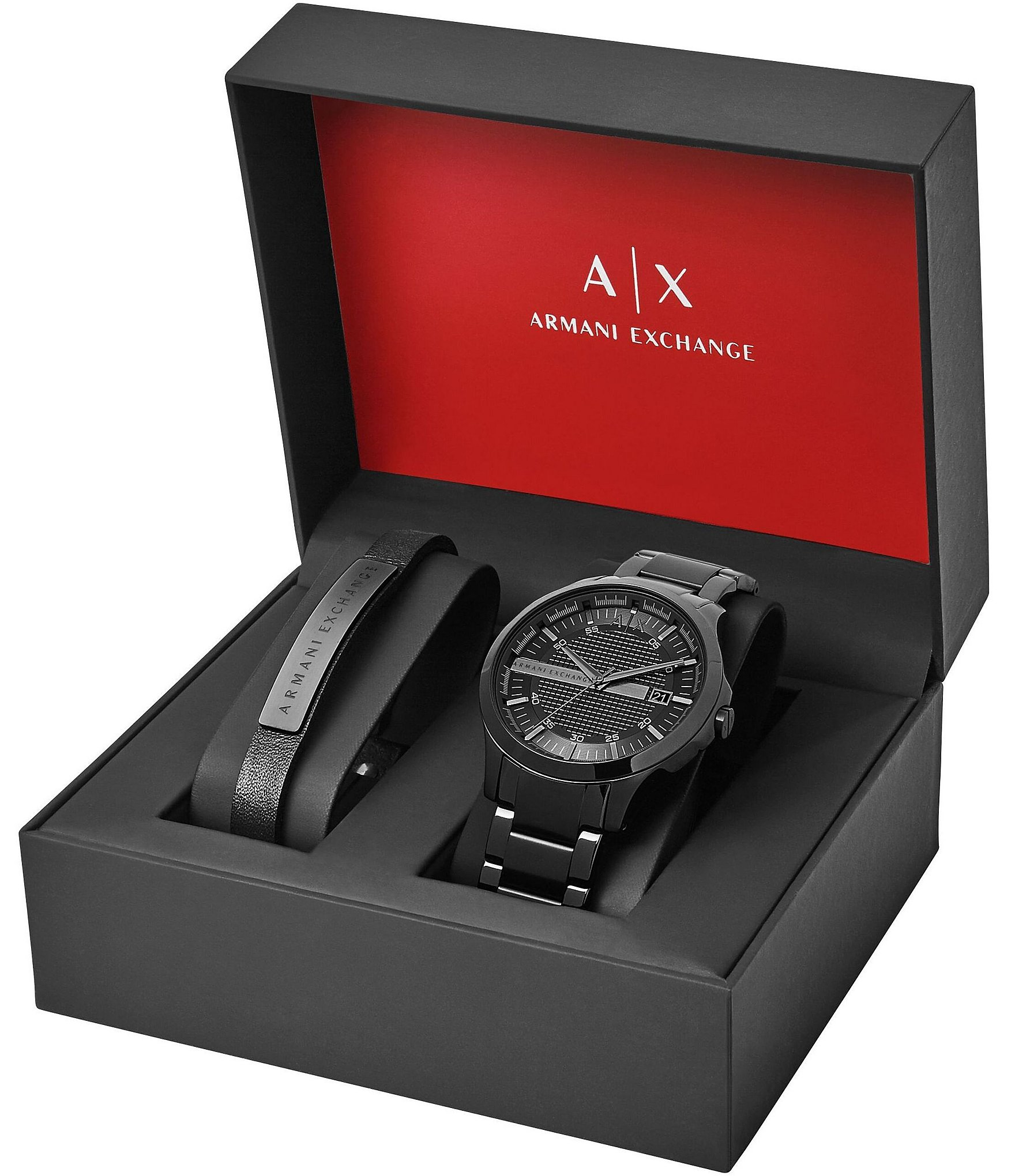 3f1c27b9ee44 Armani Exchange Dress Watch Bracelet Gift Set