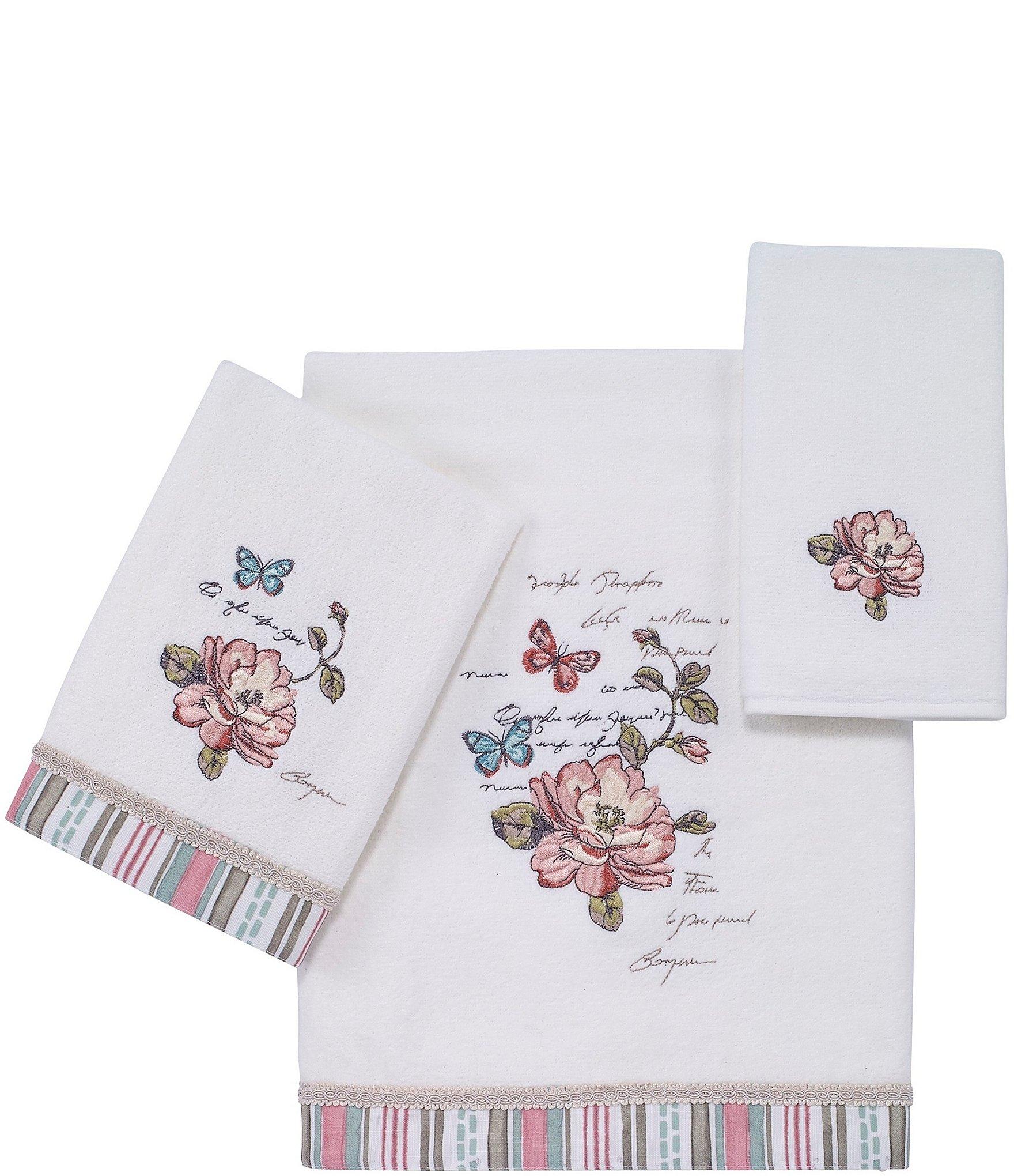 Avanti linens butterfly garden cotton bath towels dillards - Dillards bathroom accessories sets ...