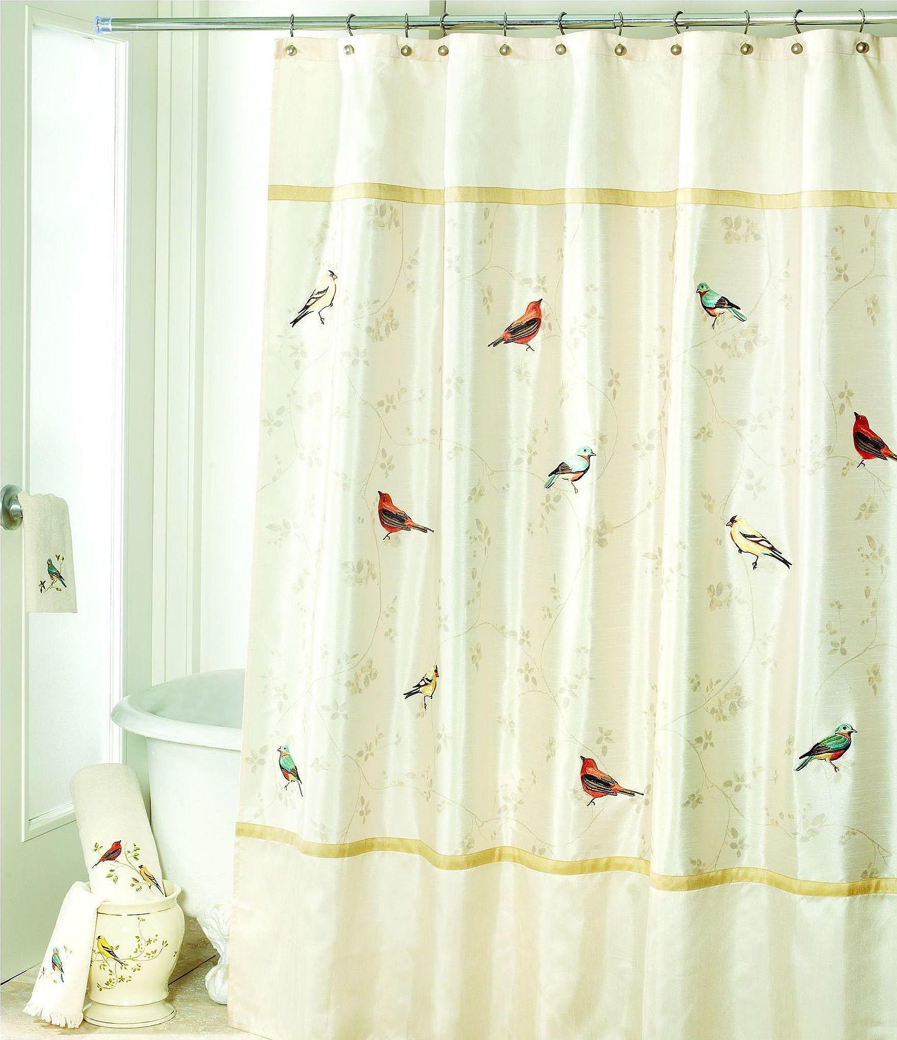 Avanti linens gilded birds shower curtain dillard 39 s for Dillards bathroom accessories sets