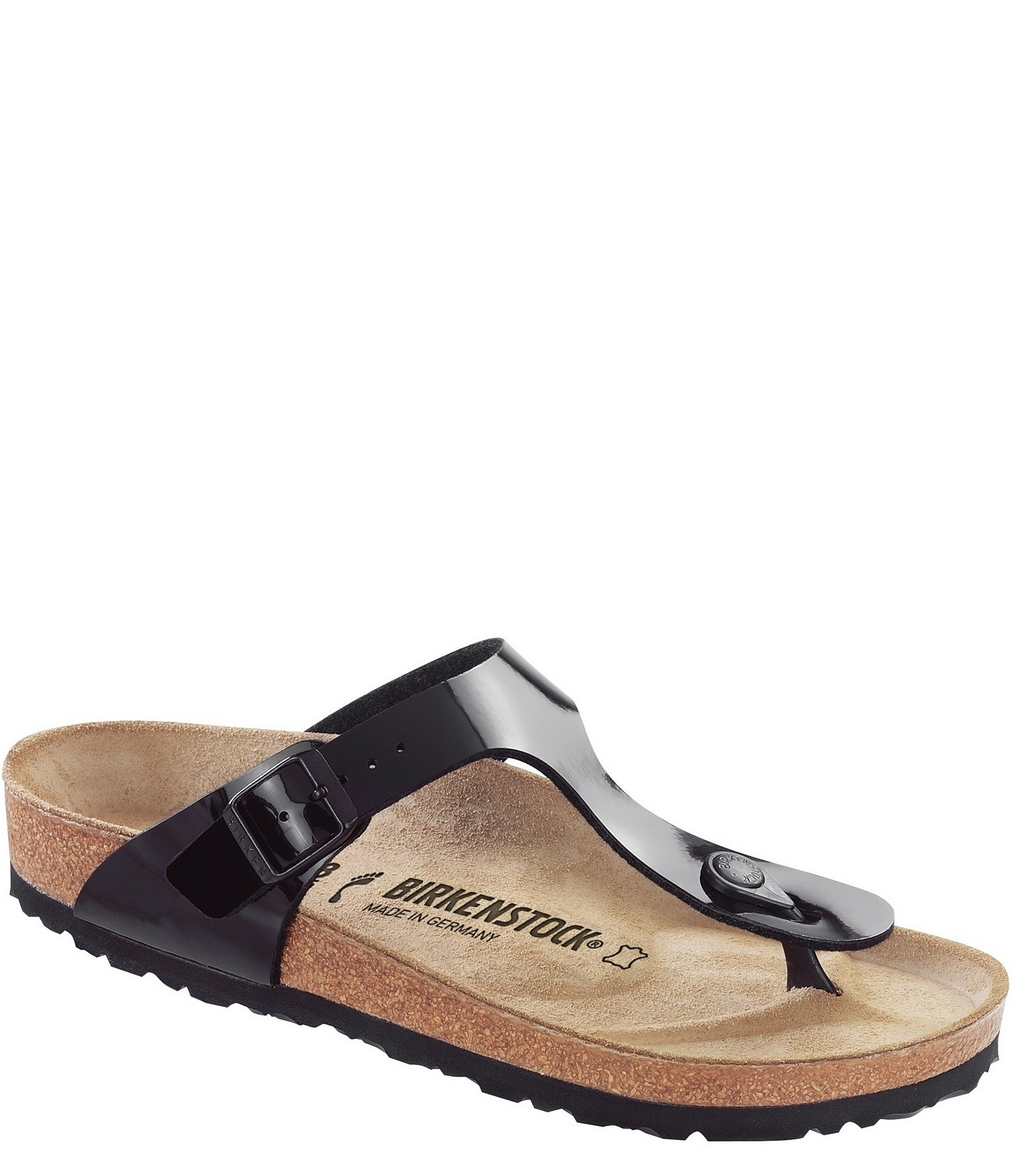 beceaa364dccd Birkenstock Women s Gizeh Patent Thong Style Slip-On Sandals