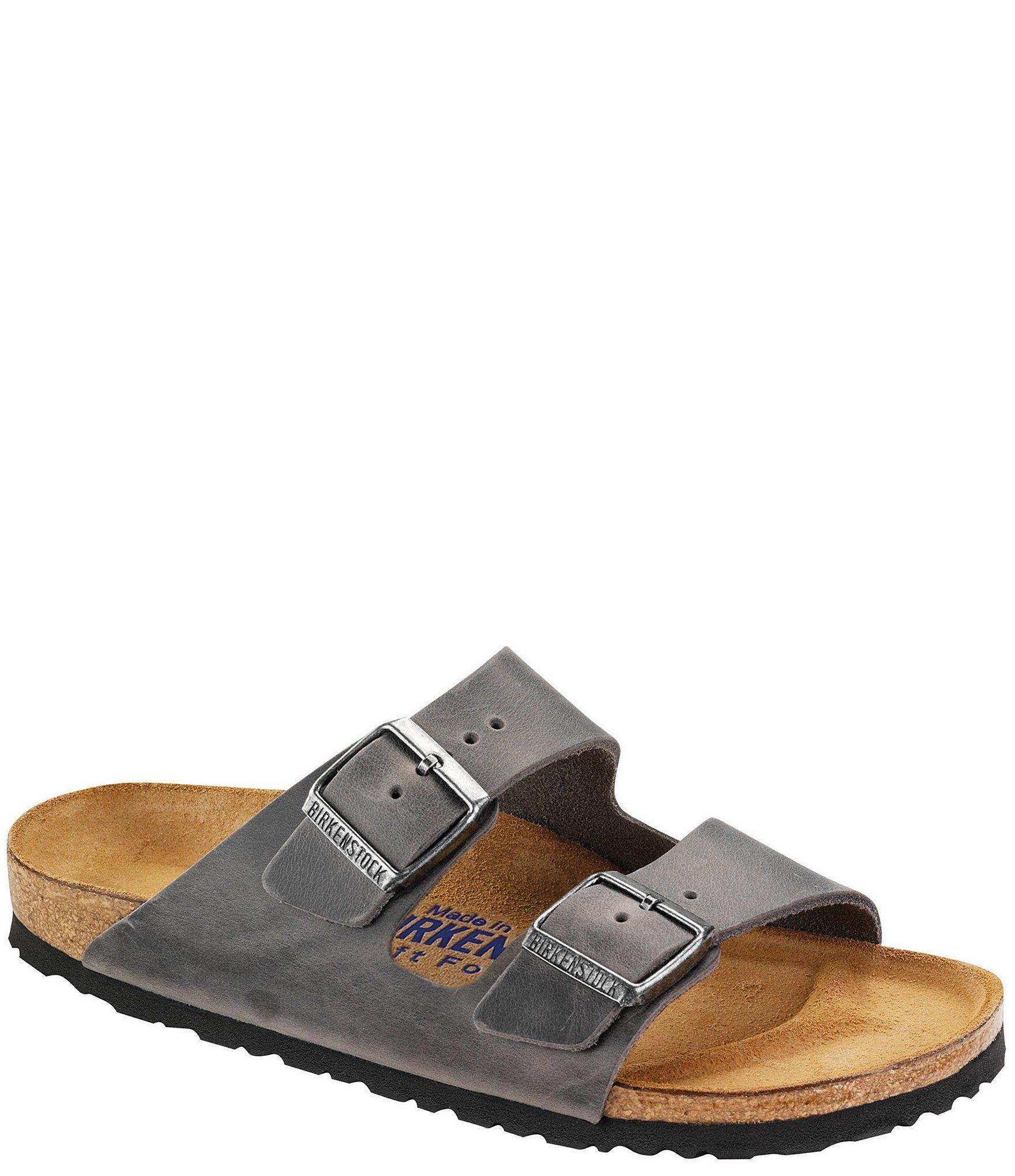 Birkenstock Arizona Men's Oiled Leather Soft Footbed Slip On Sandals
