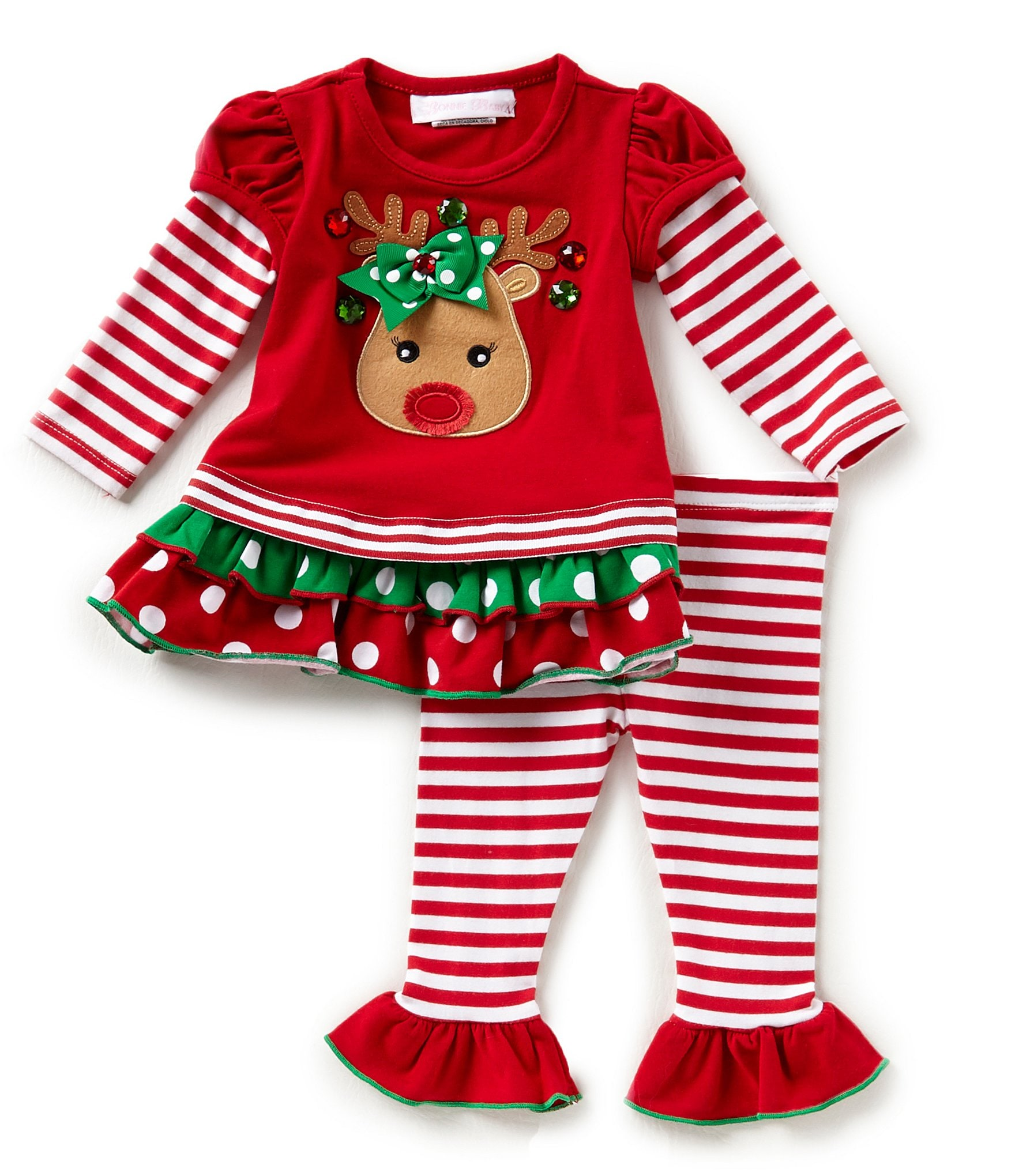 Bonnie Baby Baby Girls Newborn 24 Months Christmas Mixed
