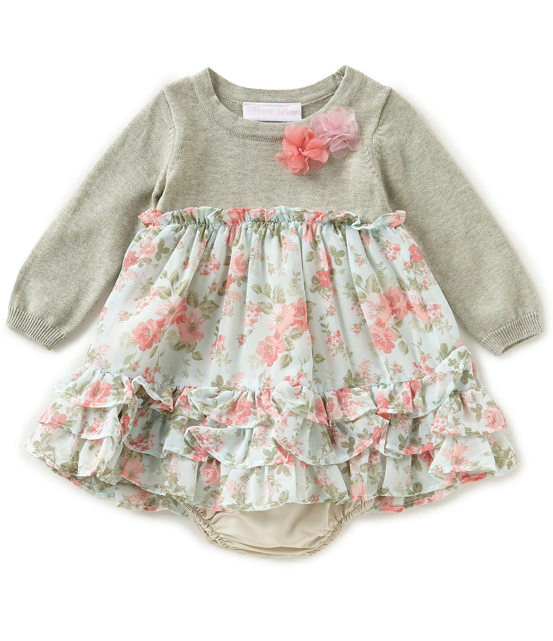Bonnie Baby Baby Girls Newborn 24 Months Floral Print
