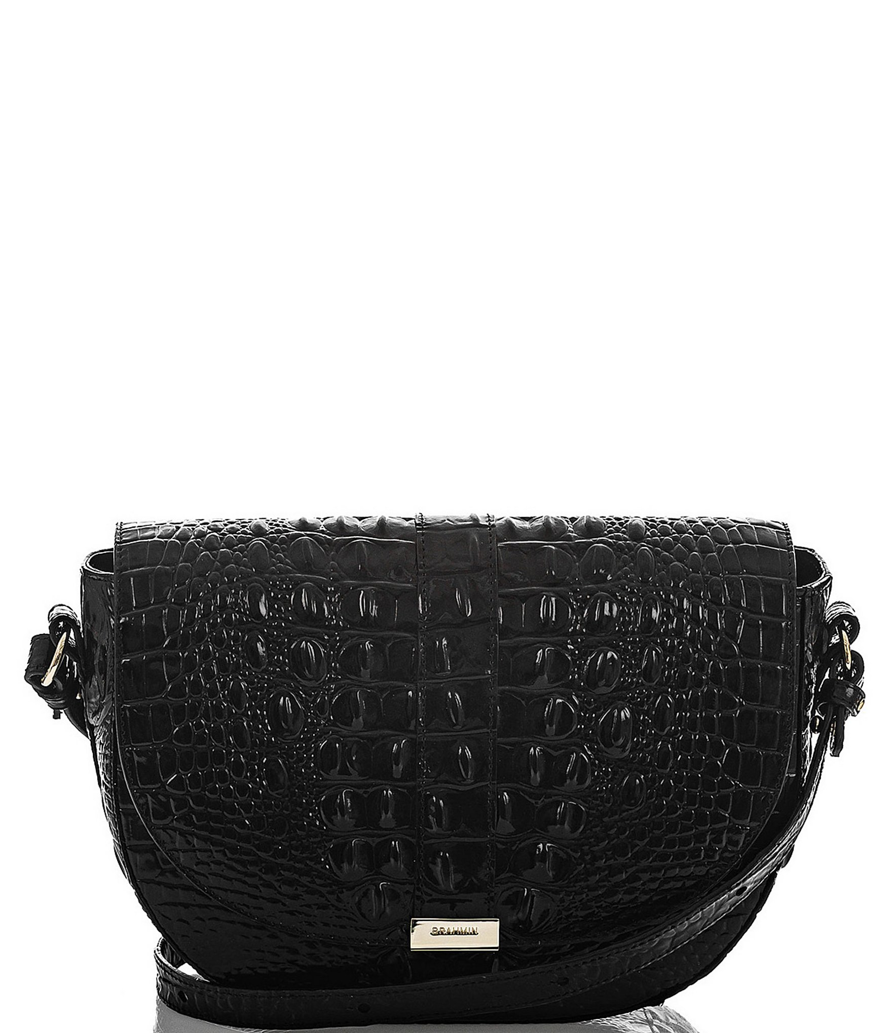 Melbourne Collection Ella Crocodile Embossed Crossbody Bag by Brahmin
