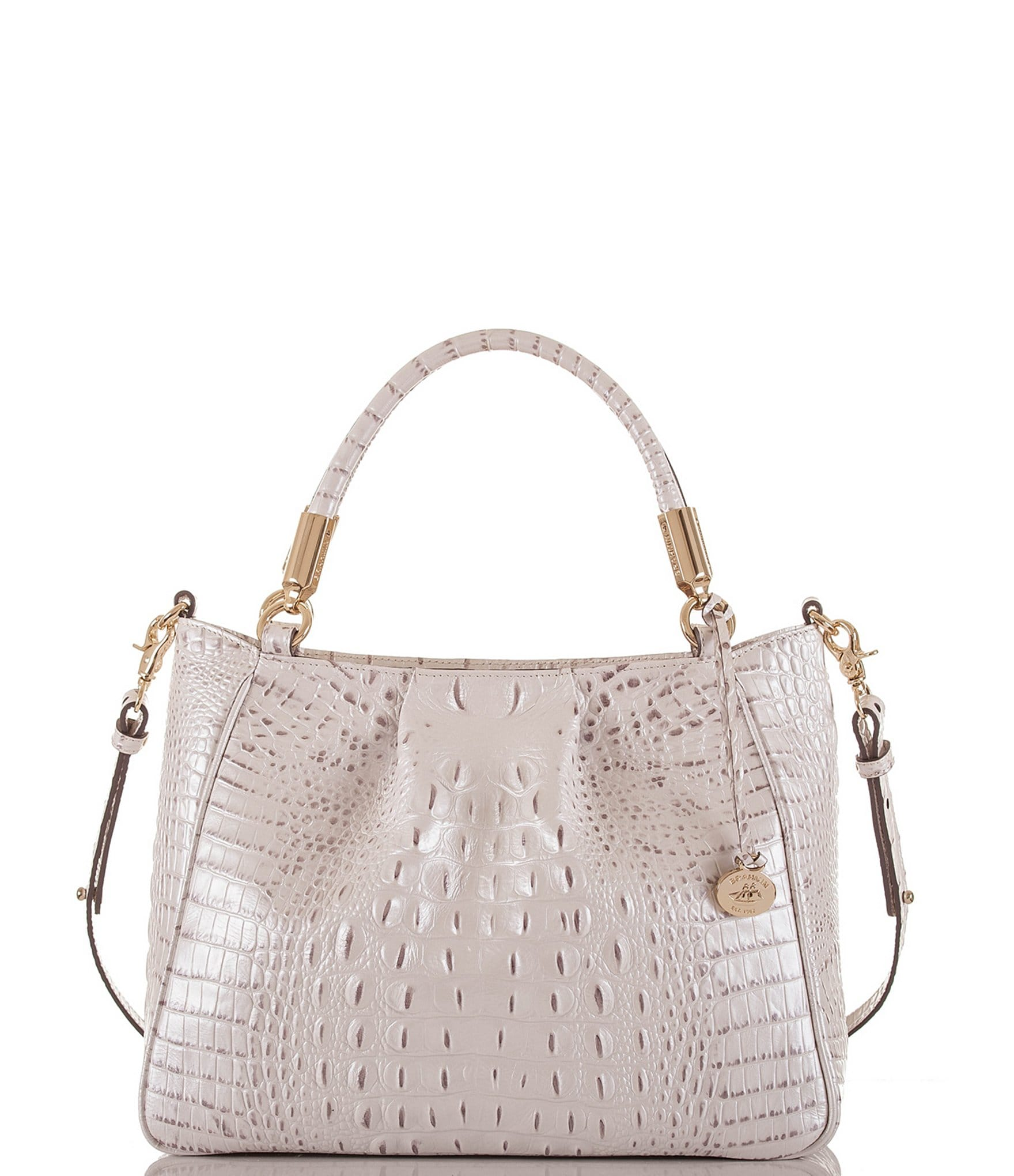 Brahmin Melbourne Collection Ruby Crocodile-Embossed ...