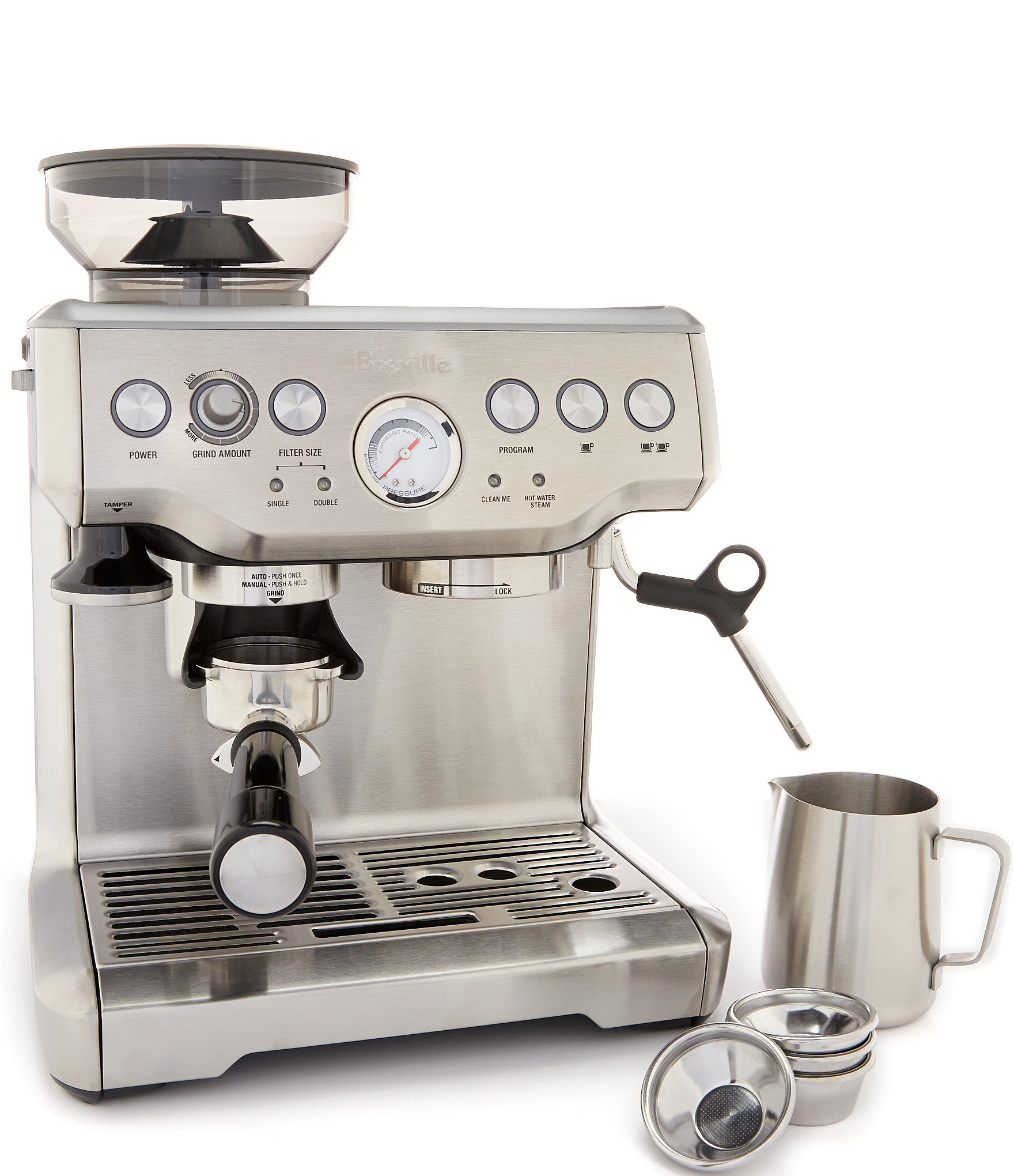 breville the barista express bean grinder espresso machine. Black Bedroom Furniture Sets. Home Design Ideas