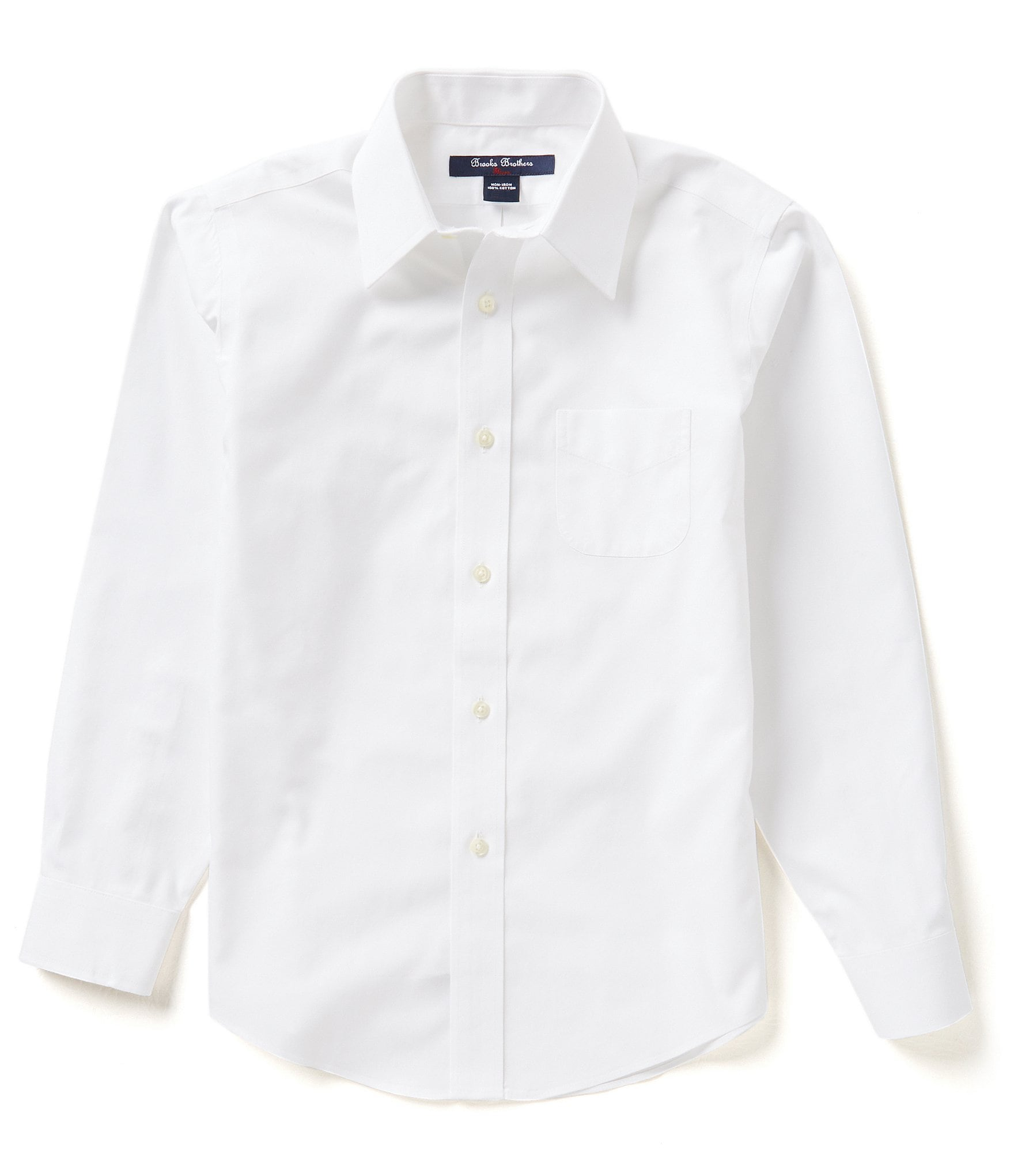 Brooks brothers little big boys 4 20 mini oxford point for Brooks brothers boys shirts
