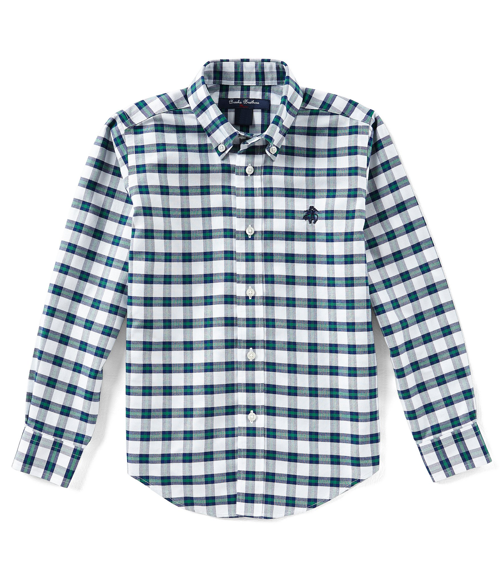 Brooks brothers little big boys 4 20 button down long for Brooks brothers boys shirts