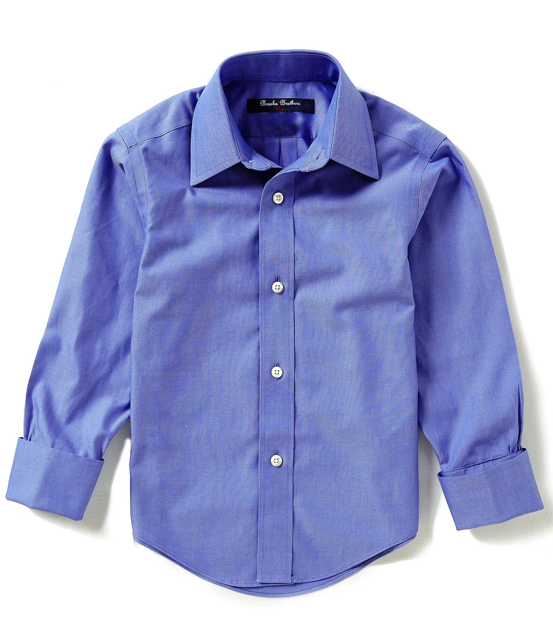 Brooks brothers little big boys 4 20 non iron solid dress for Brooks brothers non iron shirt review