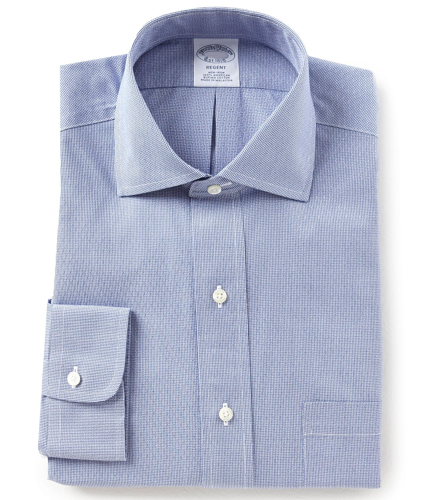Brooks brothers non iron regent fit spread collar diamond for Brooks brothers non iron shirt review