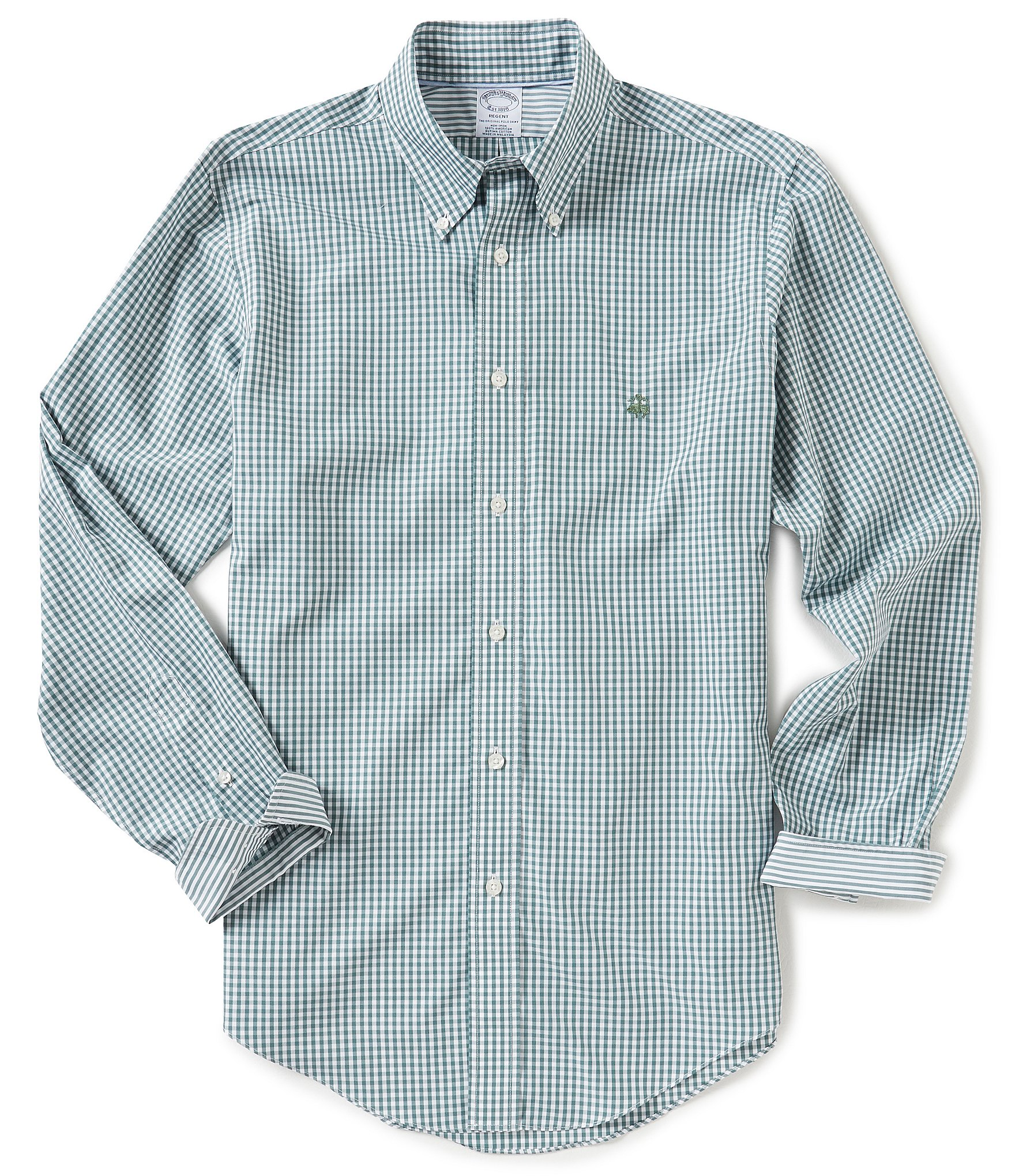 Brooks brothers non iron regent fit gingham long sleeve for Brooks brothers non iron shirt review