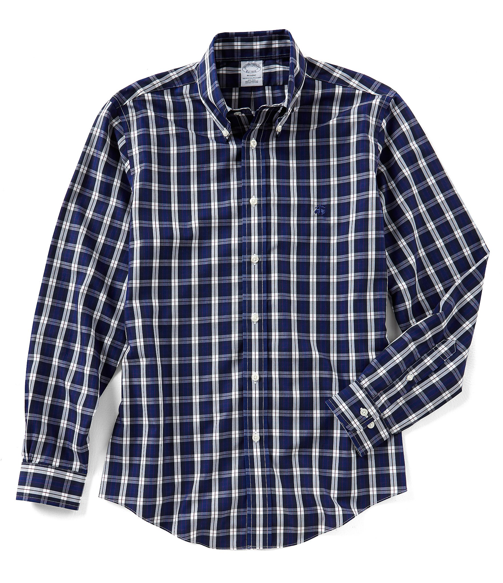 Brooks brothers non iron regent fit plaid long sleeve for Brooks brothers non iron shirt review