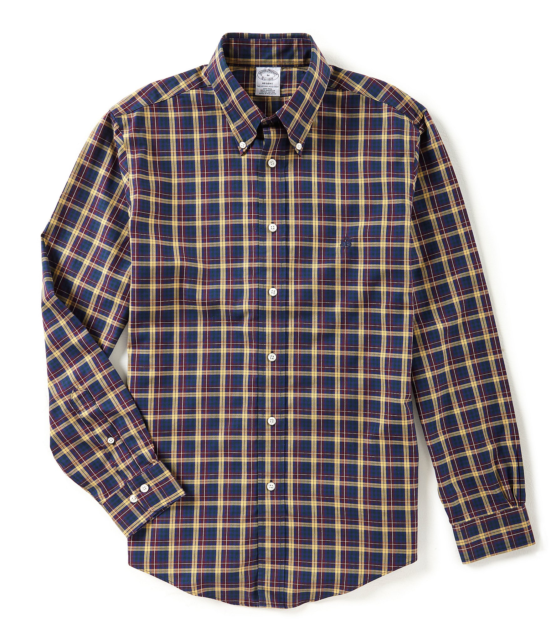 Brooks brothers non iron regent fit dual tartan plaid long for Brooks brothers non iron shirt review