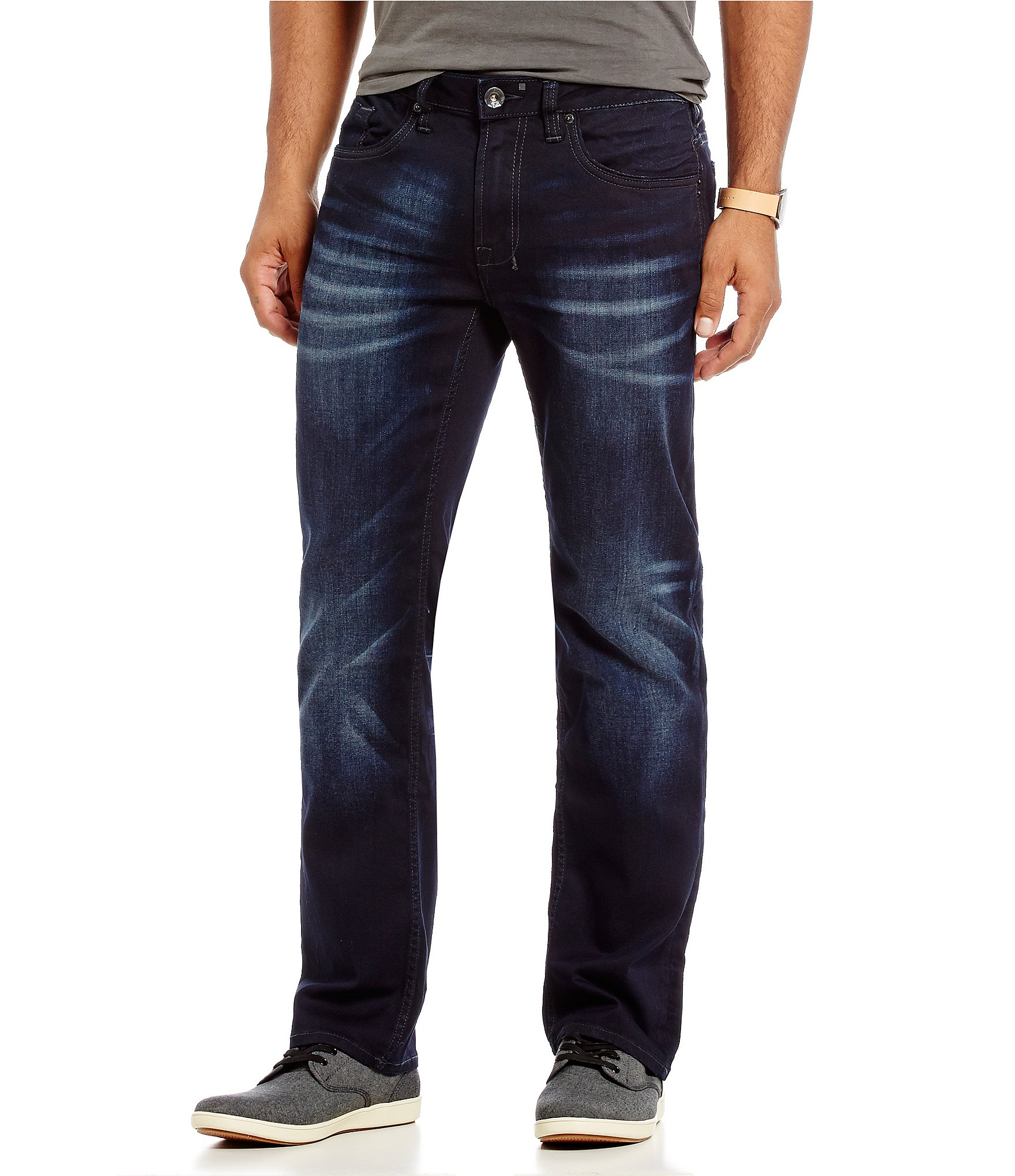 Buffalo David Bitton Six-X Straight Super Stretch Jeans