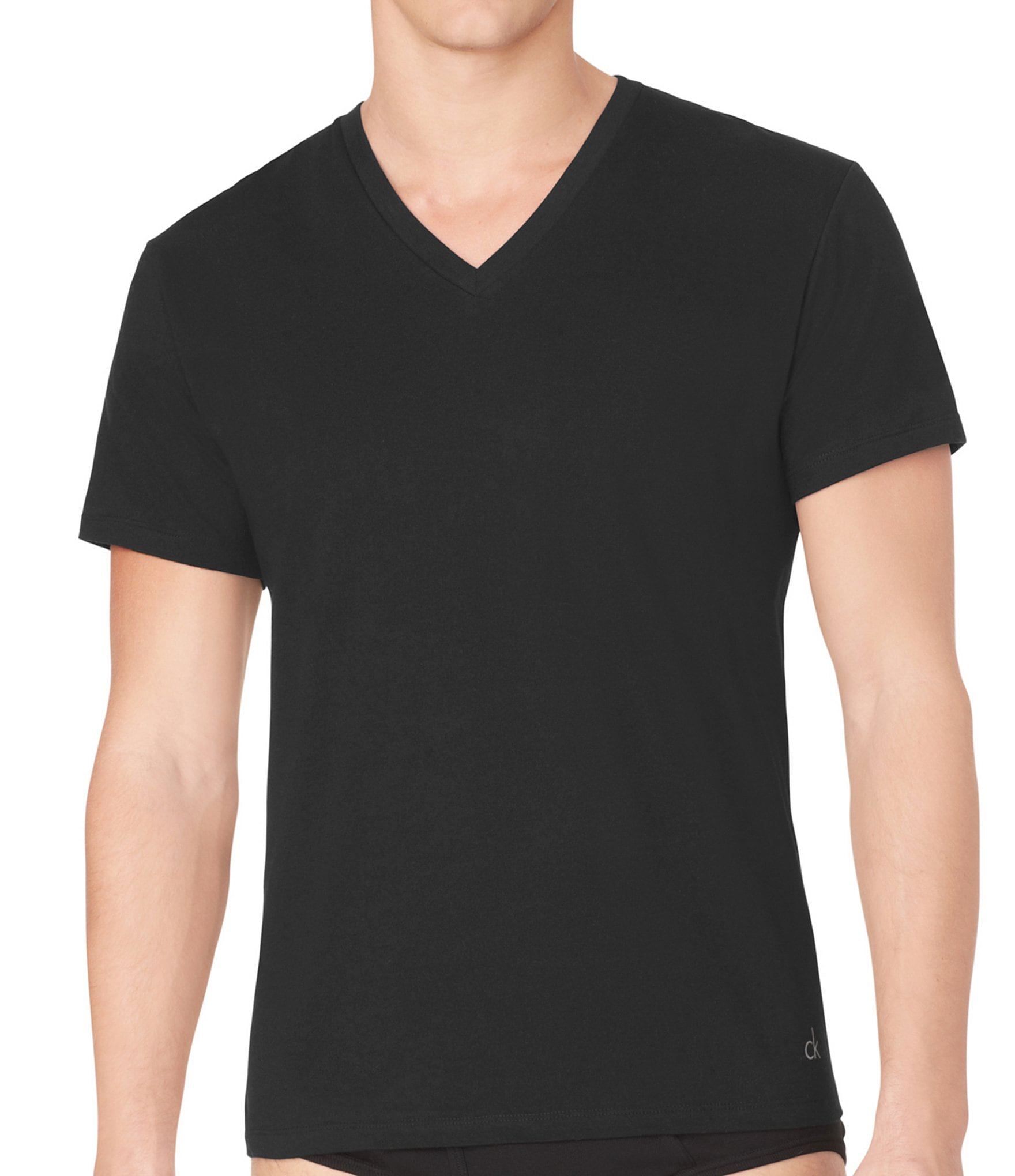 calvin klein big tall cotton classic v neck tees 2 pack. Black Bedroom Furniture Sets. Home Design Ideas