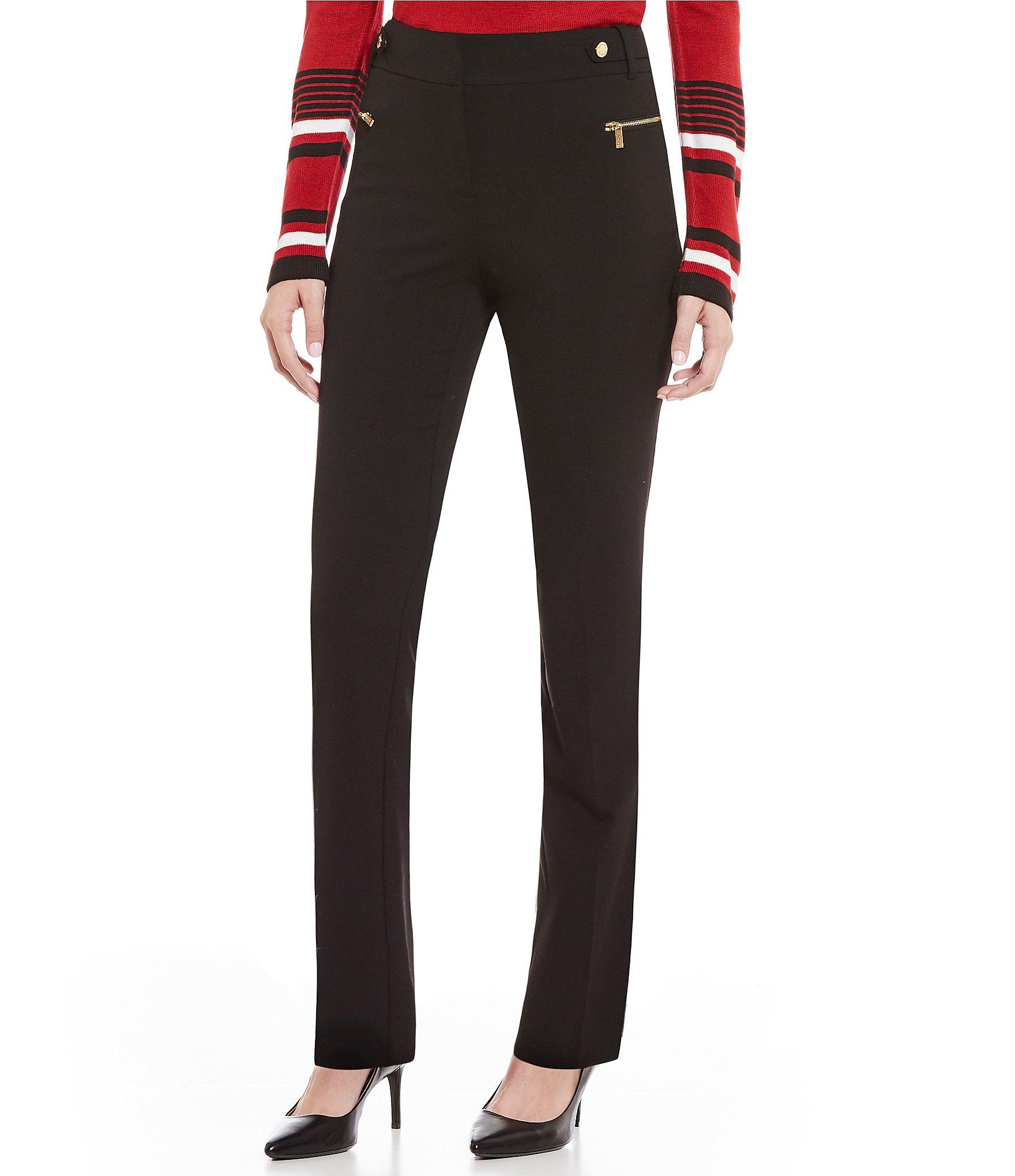 Calvin Klein Luxe Stretch Side Waist Snap Tab Zip Pocket