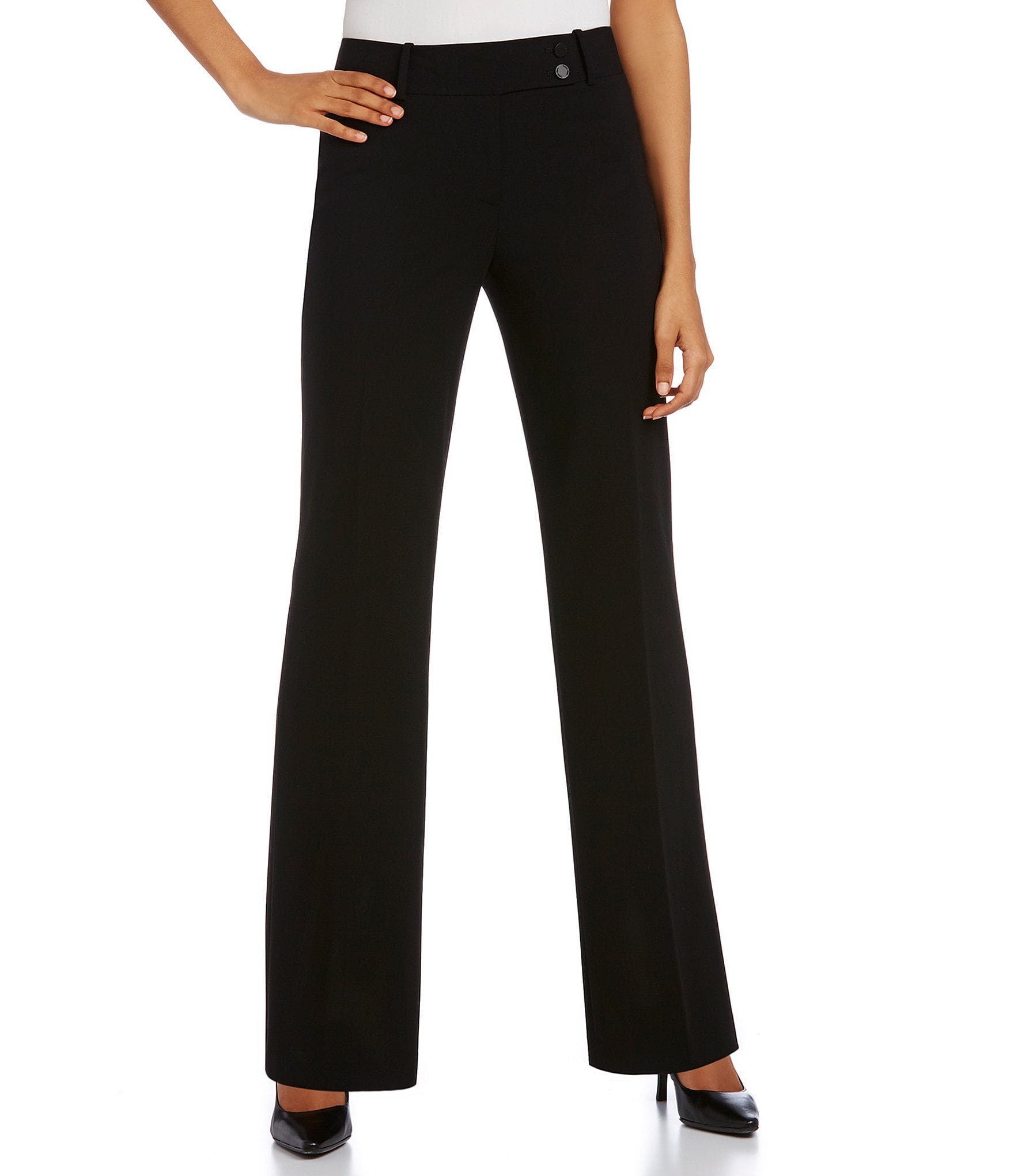 4039e1d0bf7 Black Petite Casual   Dress Pants
