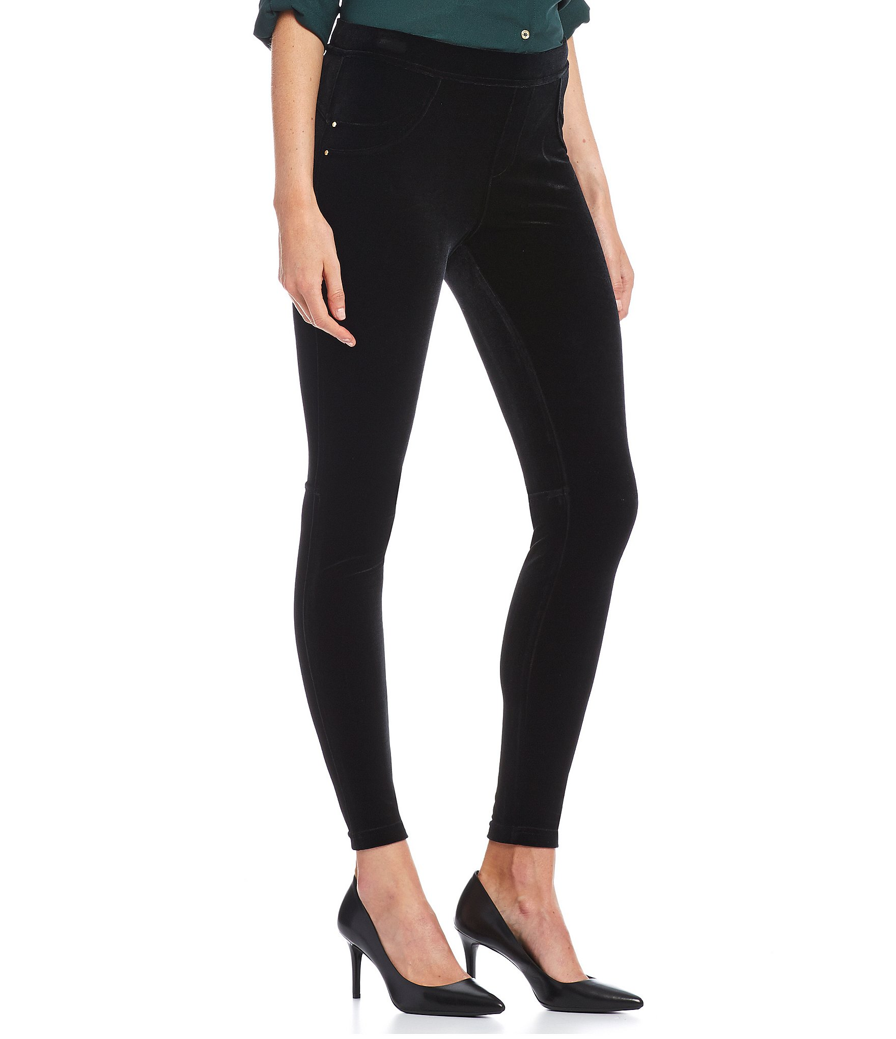 calvin klein stretch velvet leggings dillards. Black Bedroom Furniture Sets. Home Design Ideas