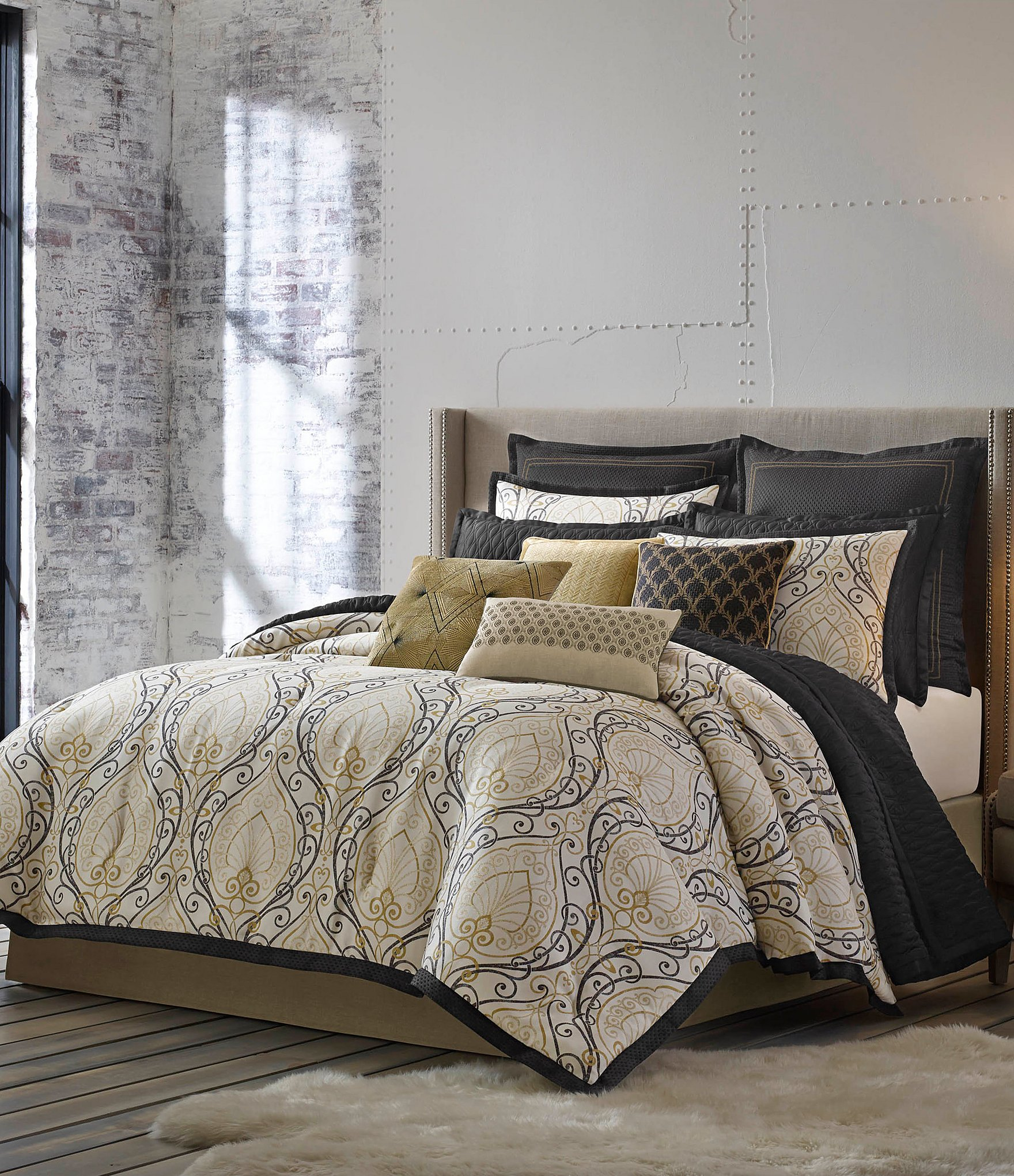 Candice Olson Releve Scroll Jacquard Comforter Set Dillards
