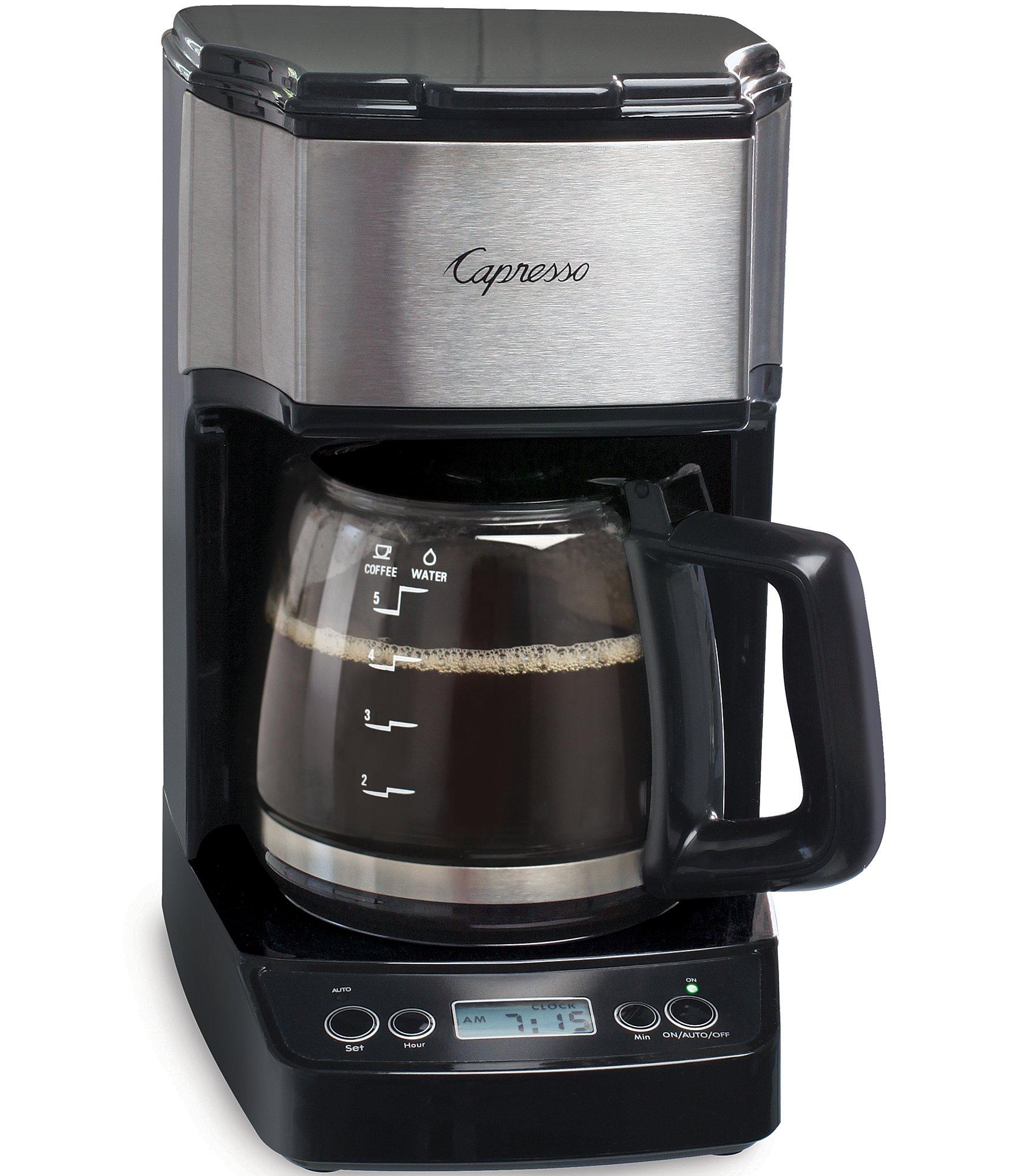 Ovastar Drip Coffee Maker Black & Silver : Capresso 5-Cup Mini Drip Coffee Maker Dillards