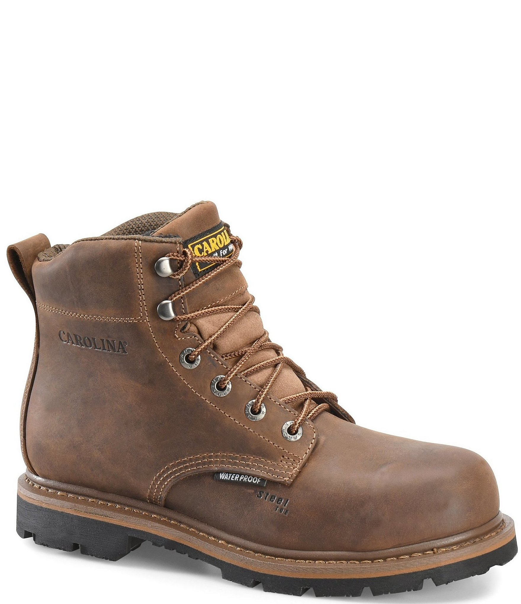 ba1c6415574 Carolina Men's 6#double; Waterproof Steel Toe Dormer Work Boots