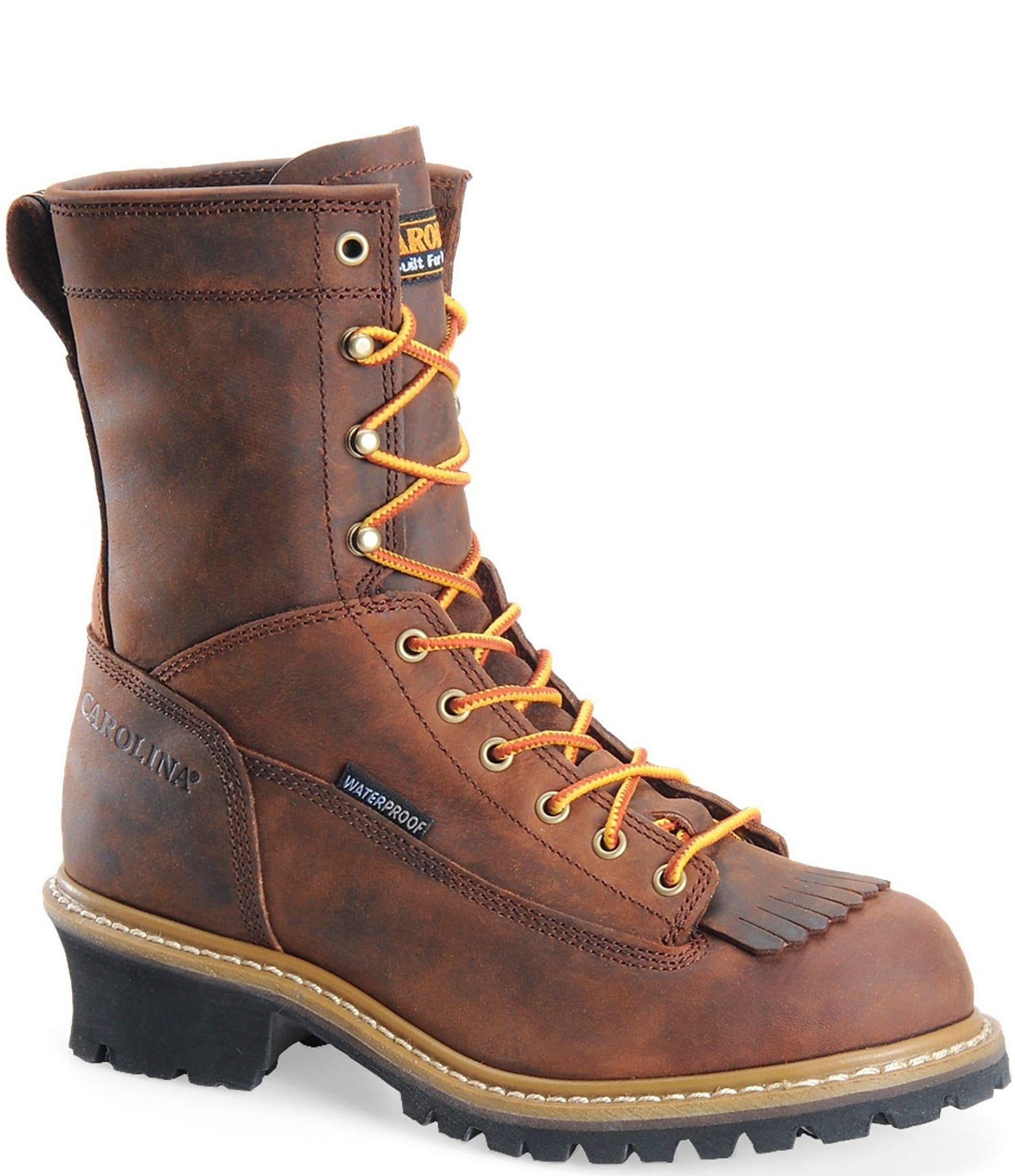 552fc6df2a4 Carolina Men's Spruce 8#double; Waterproof Logger Work Boots