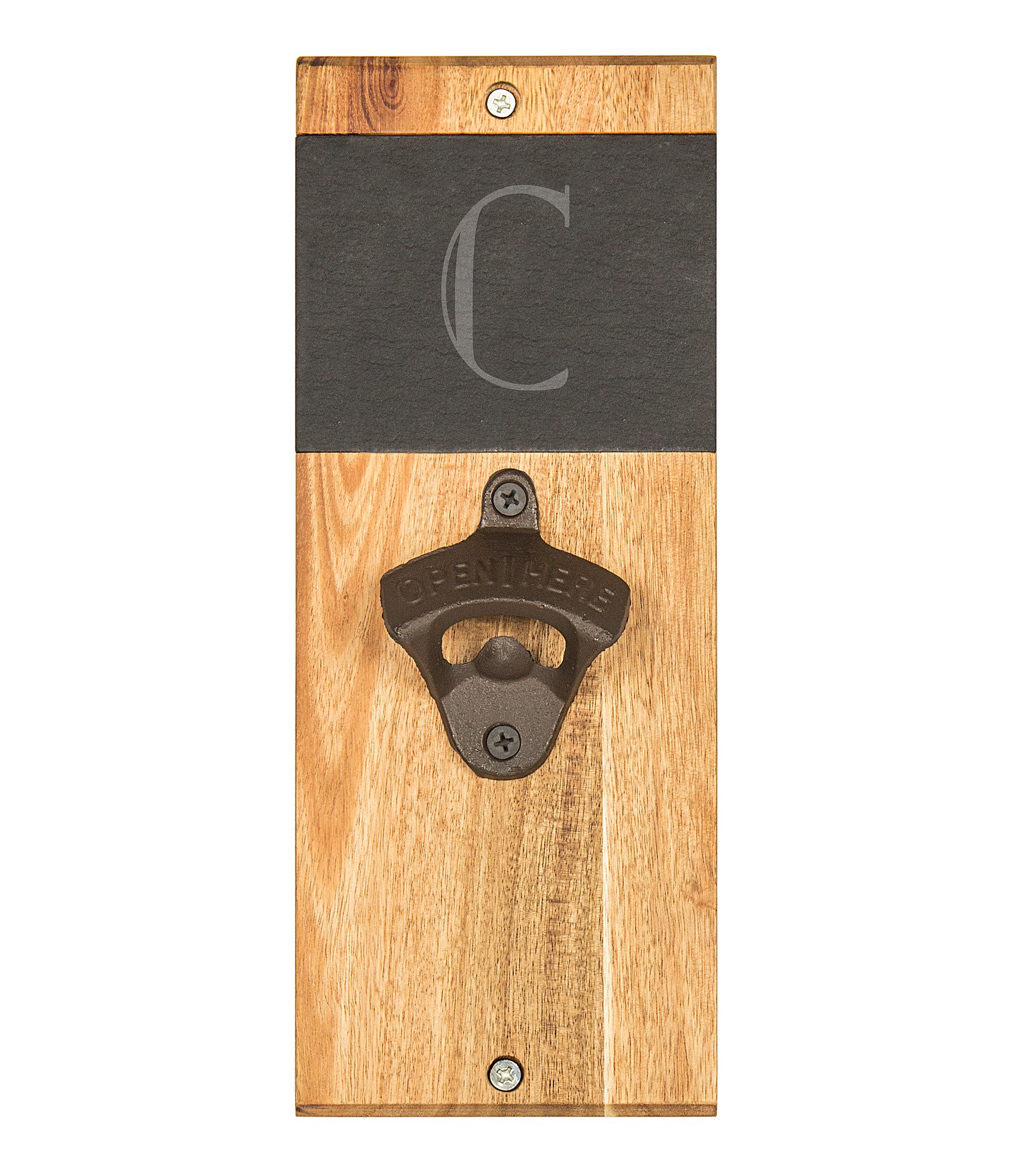 Cathy S Concepts Initial Slate Amp Acacia Wood Wall Mount