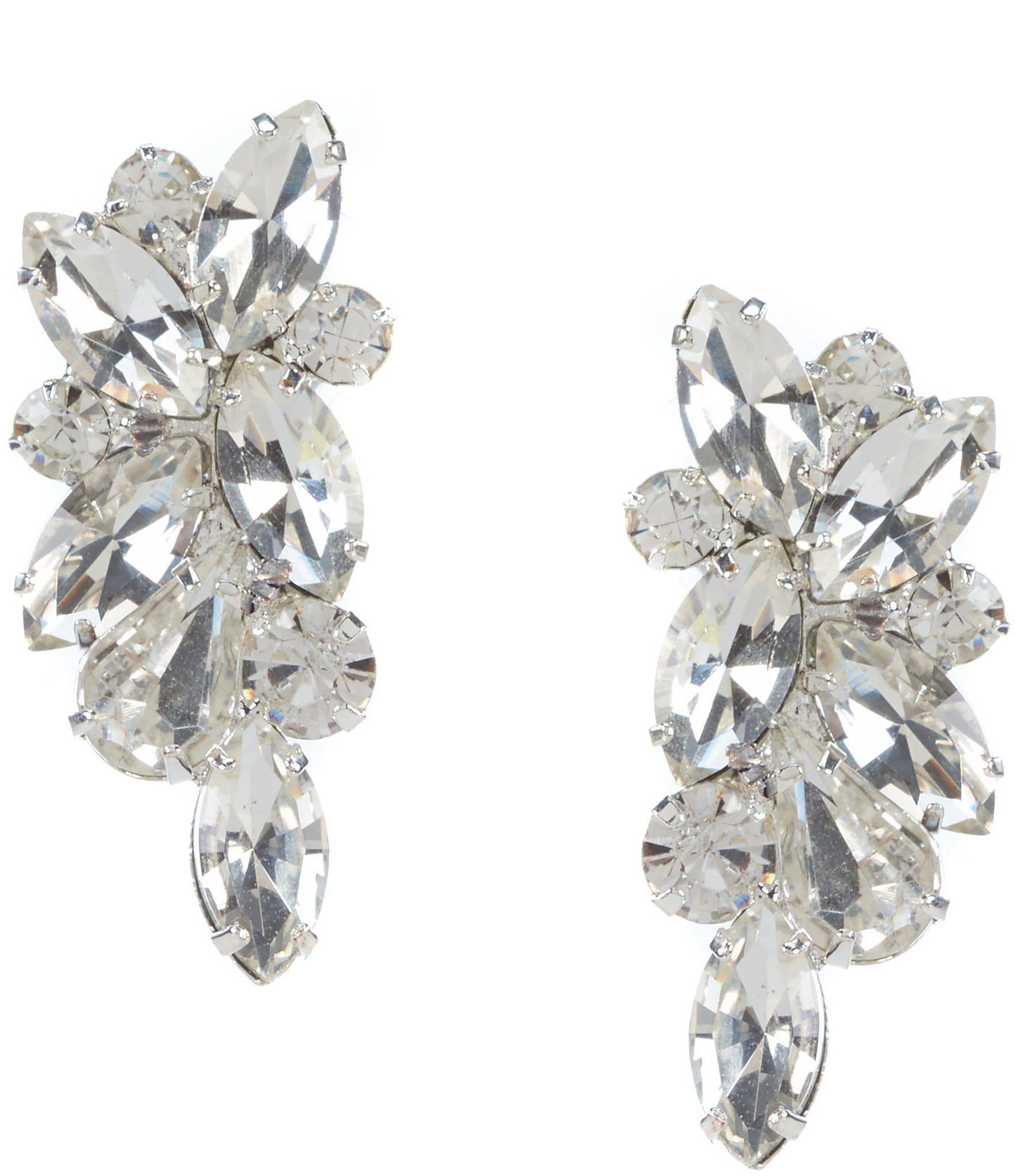 Cezanne Rhinestone Cluster Stud Statement Earrings Dillards
