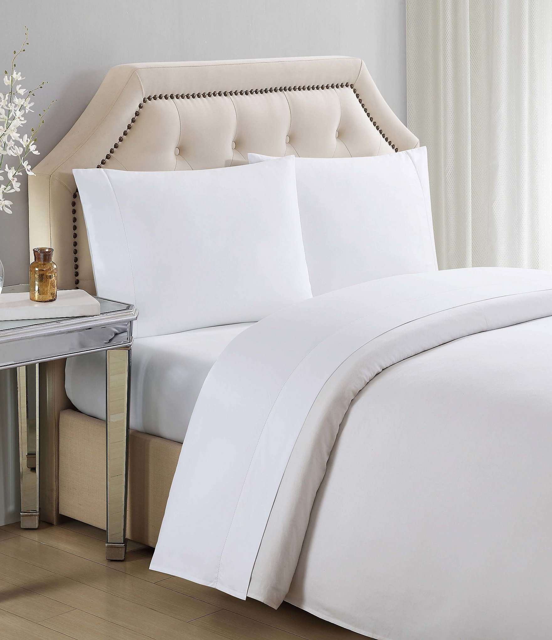 Costco Charisma Sheets White: Charisma 610 Thread Count Ultra Cotton Solid Sheet Set
