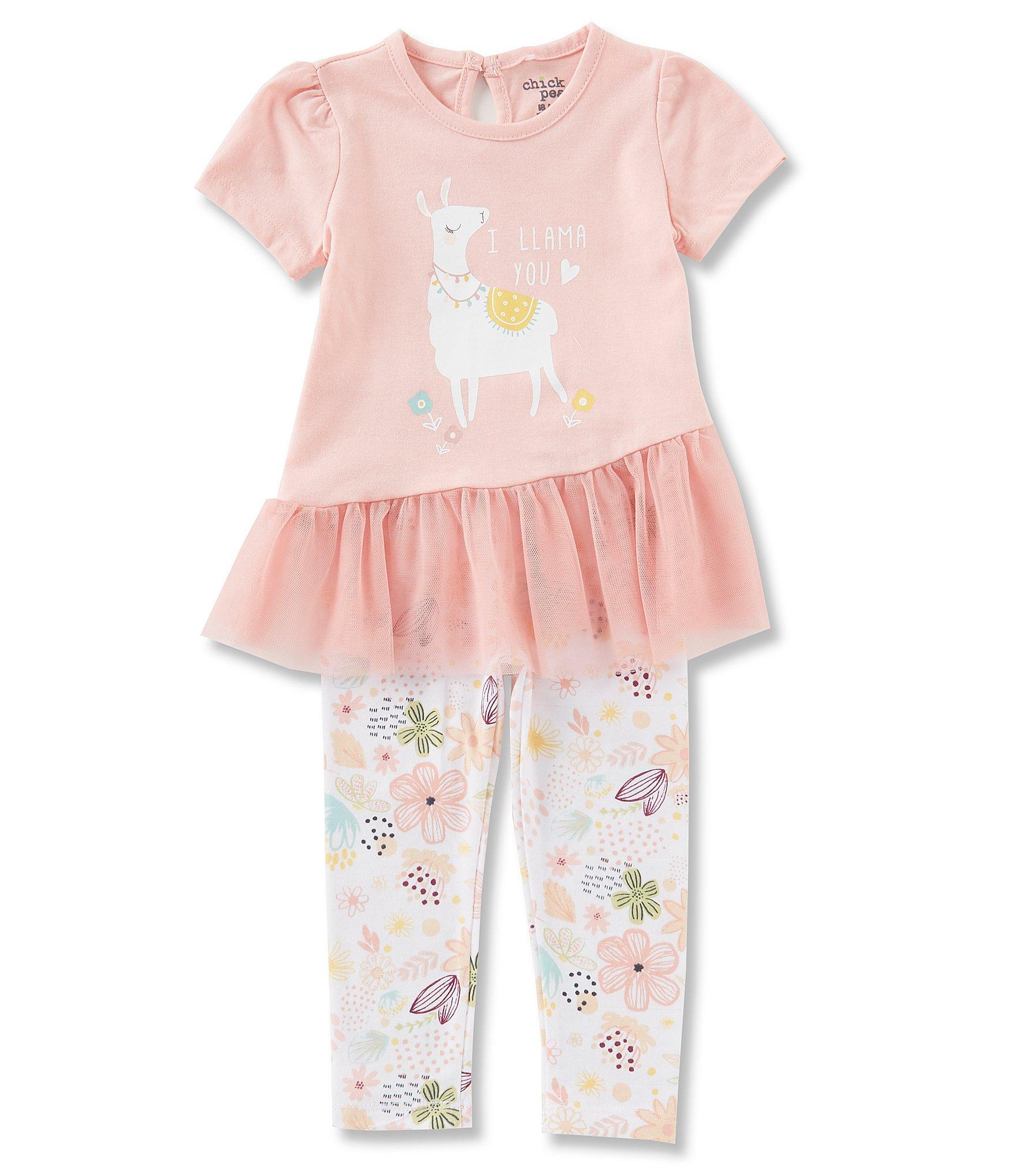 781e699aa Chick Pea Baby Girls 12-24 Months Llama Short Sleeve Tunic   Printed  Leggings Set