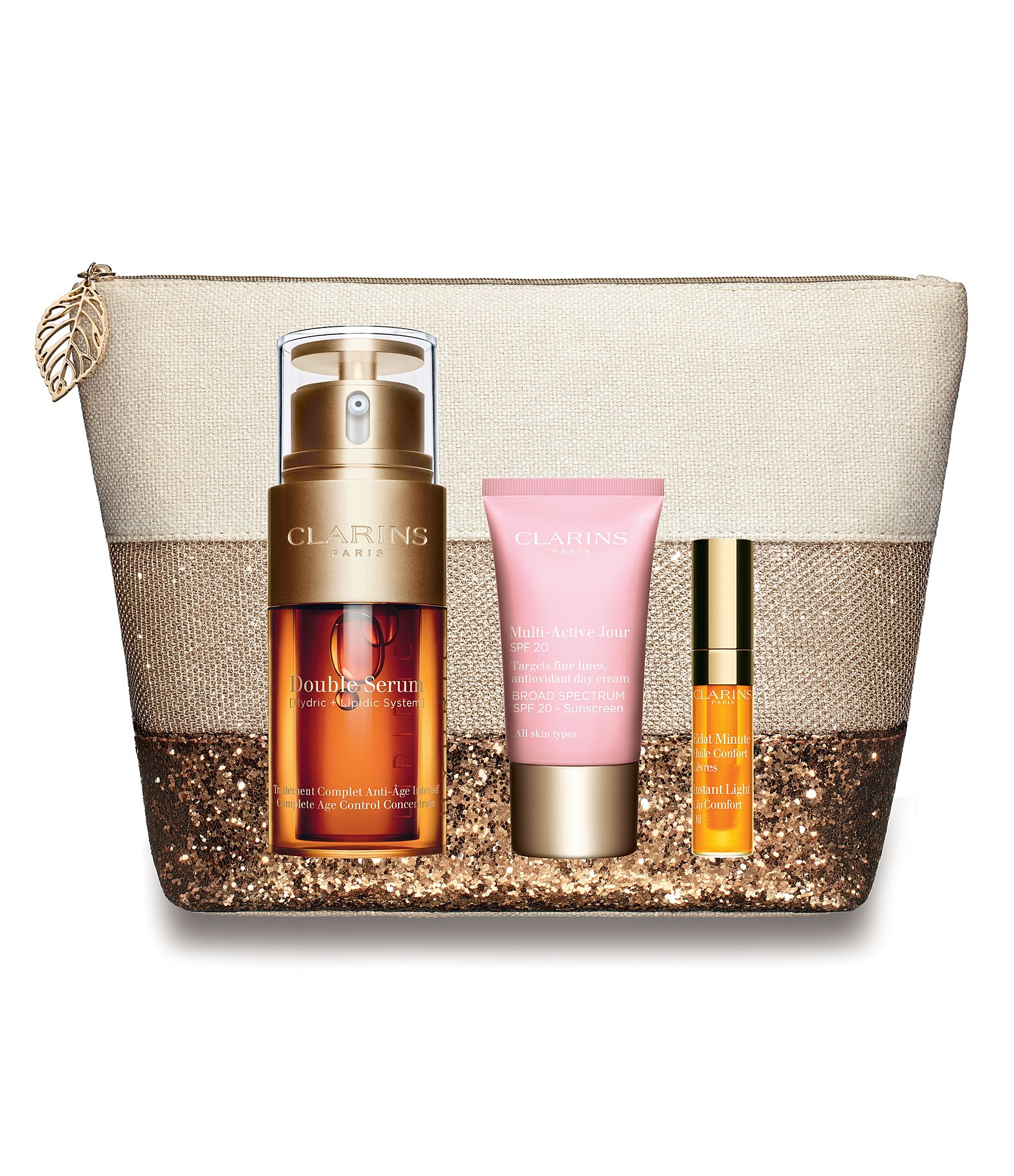 clarins multi active double serum set dillards. Black Bedroom Furniture Sets. Home Design Ideas