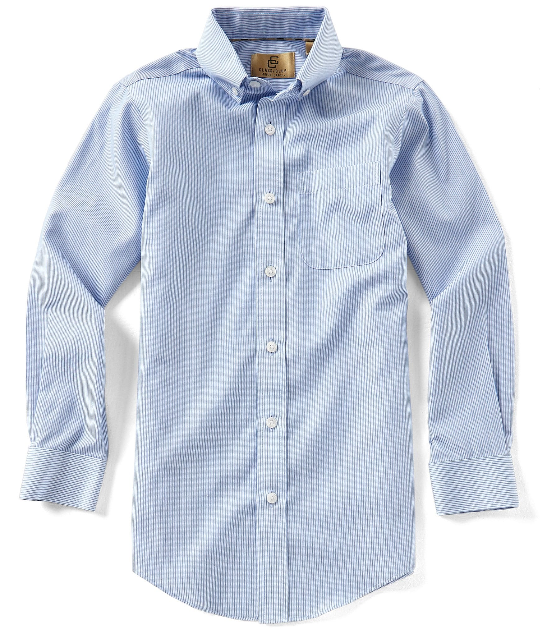 Class club gold label big boys 8 20 non iron button front for What is a non iron shirt