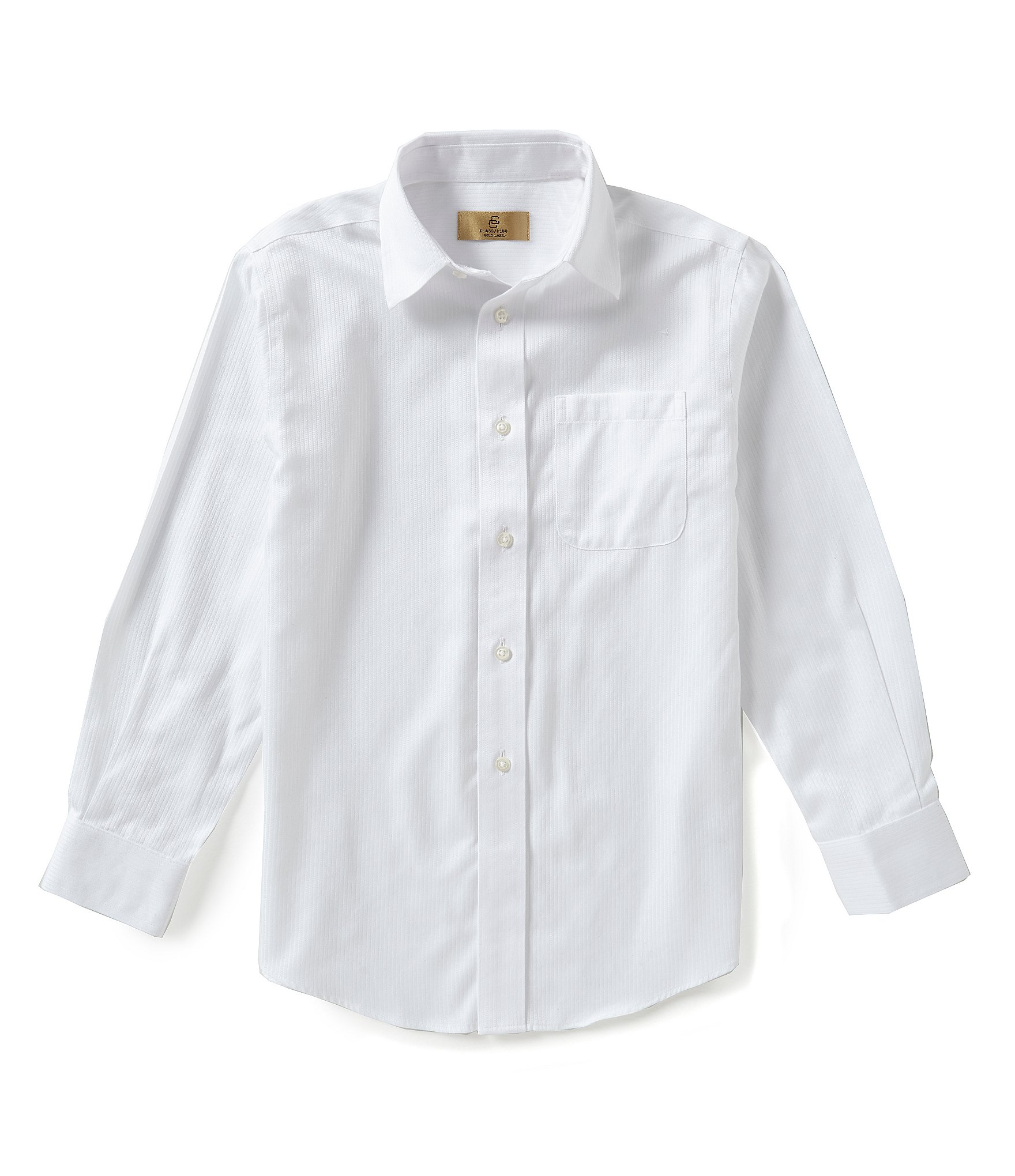 Class club little boys 2t 7 textured dress shirt dillards for Logo dress shirts no minimum
