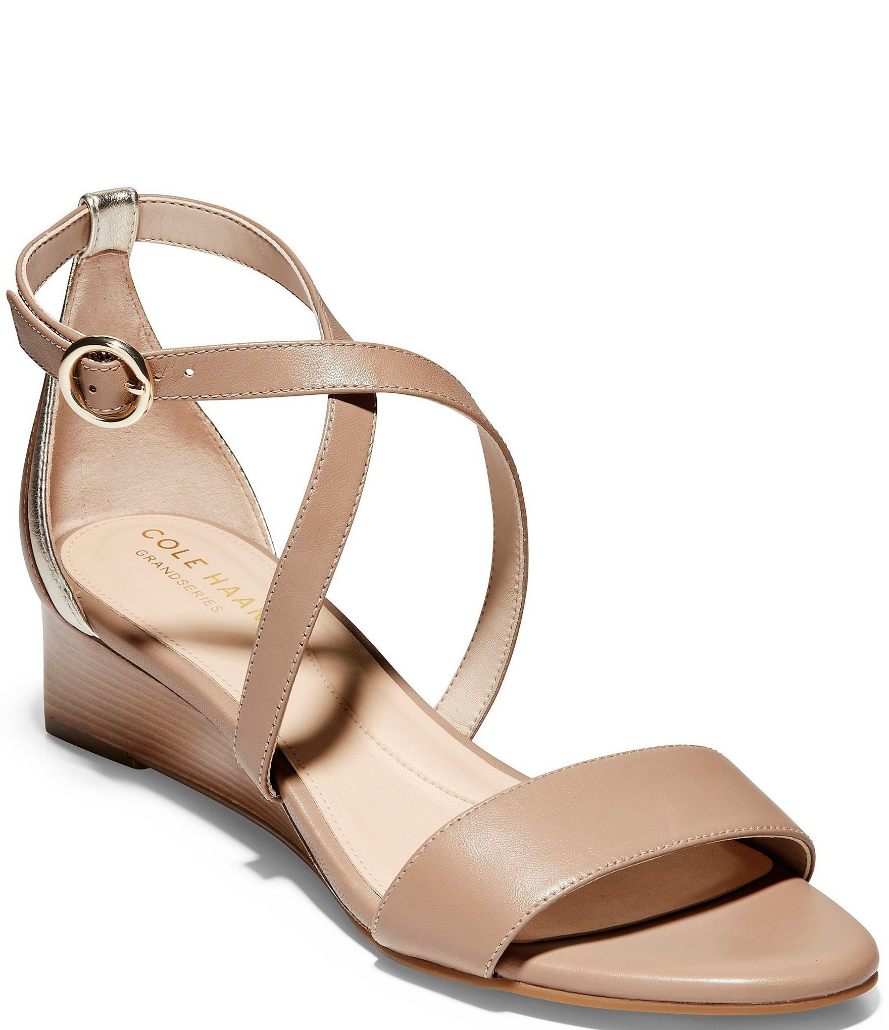 Cole Haan Hollie Leather Wedge Sandals