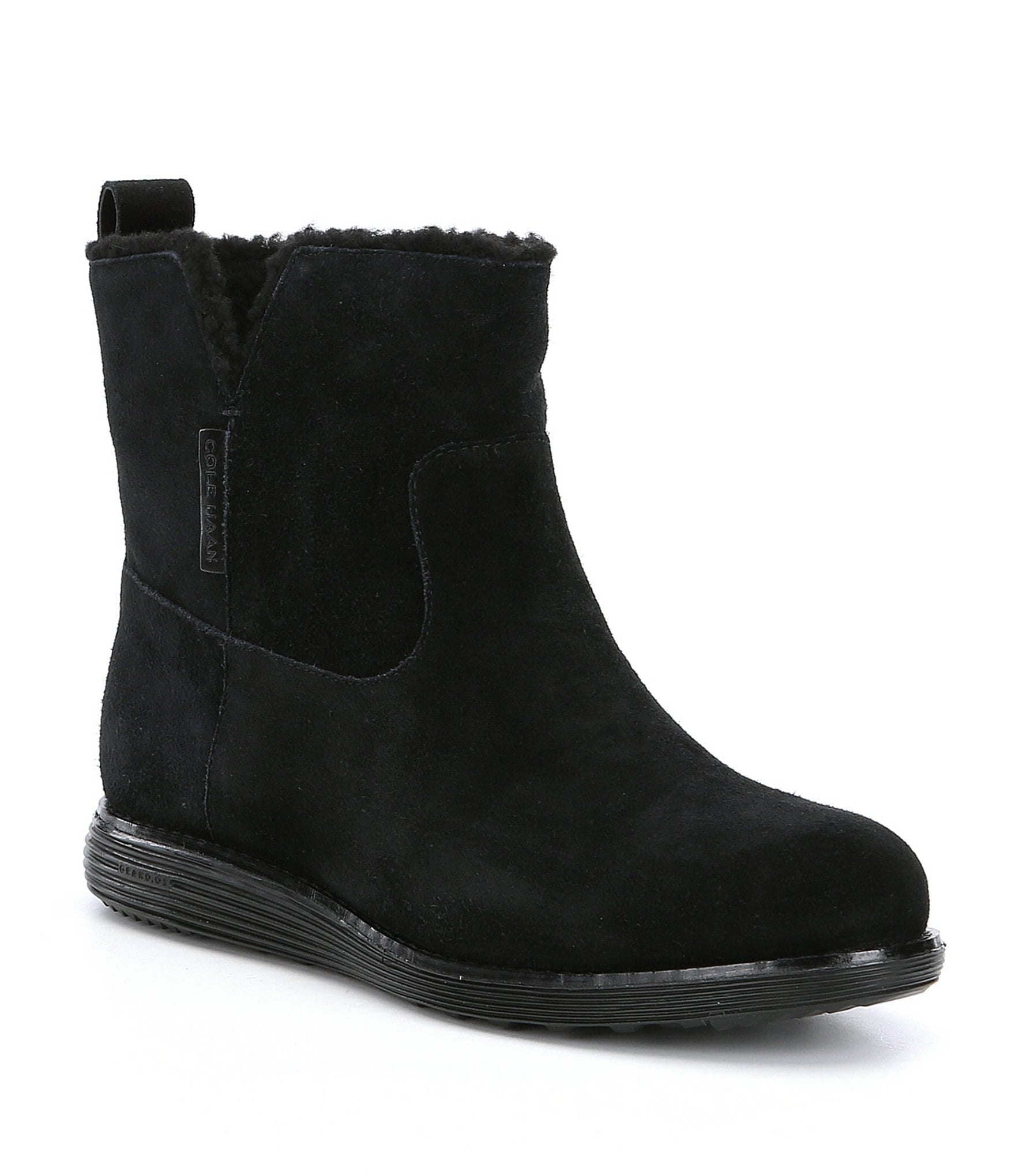 Cole Haan OriginalGrand MotoGrand Water Resistant Suede Booties | Dillards