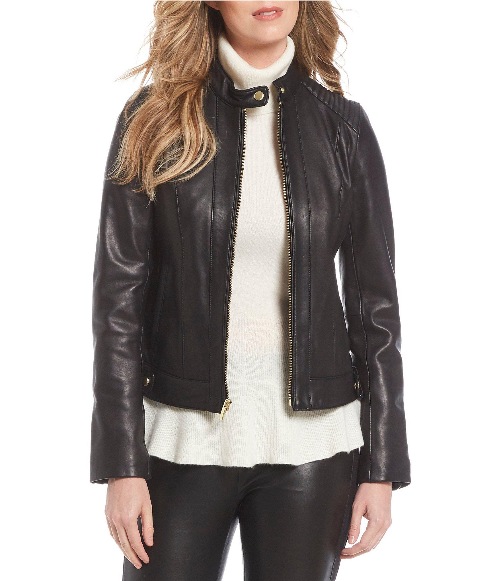 Dillards womens leather jackets