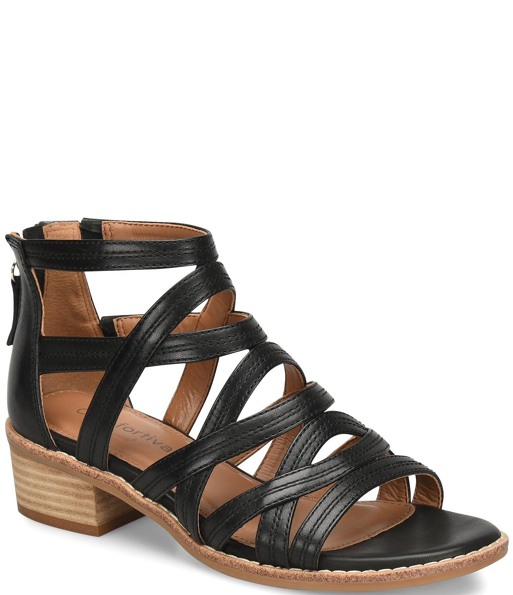 806d5a94f2d5 Comfortiva Betha Leather Gladiator Sandals