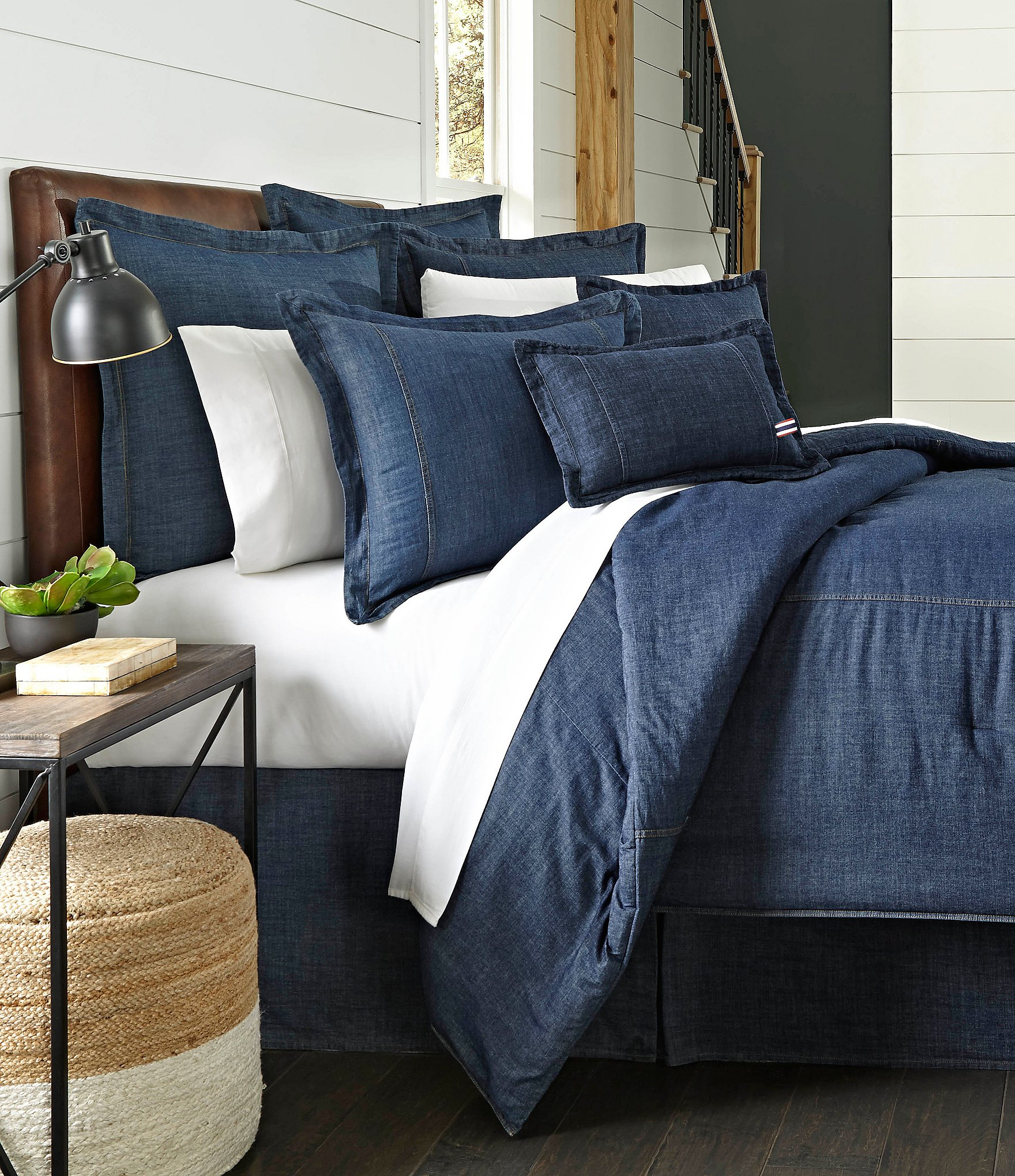 Cremieux Cotton Denim Comforter Dillard S