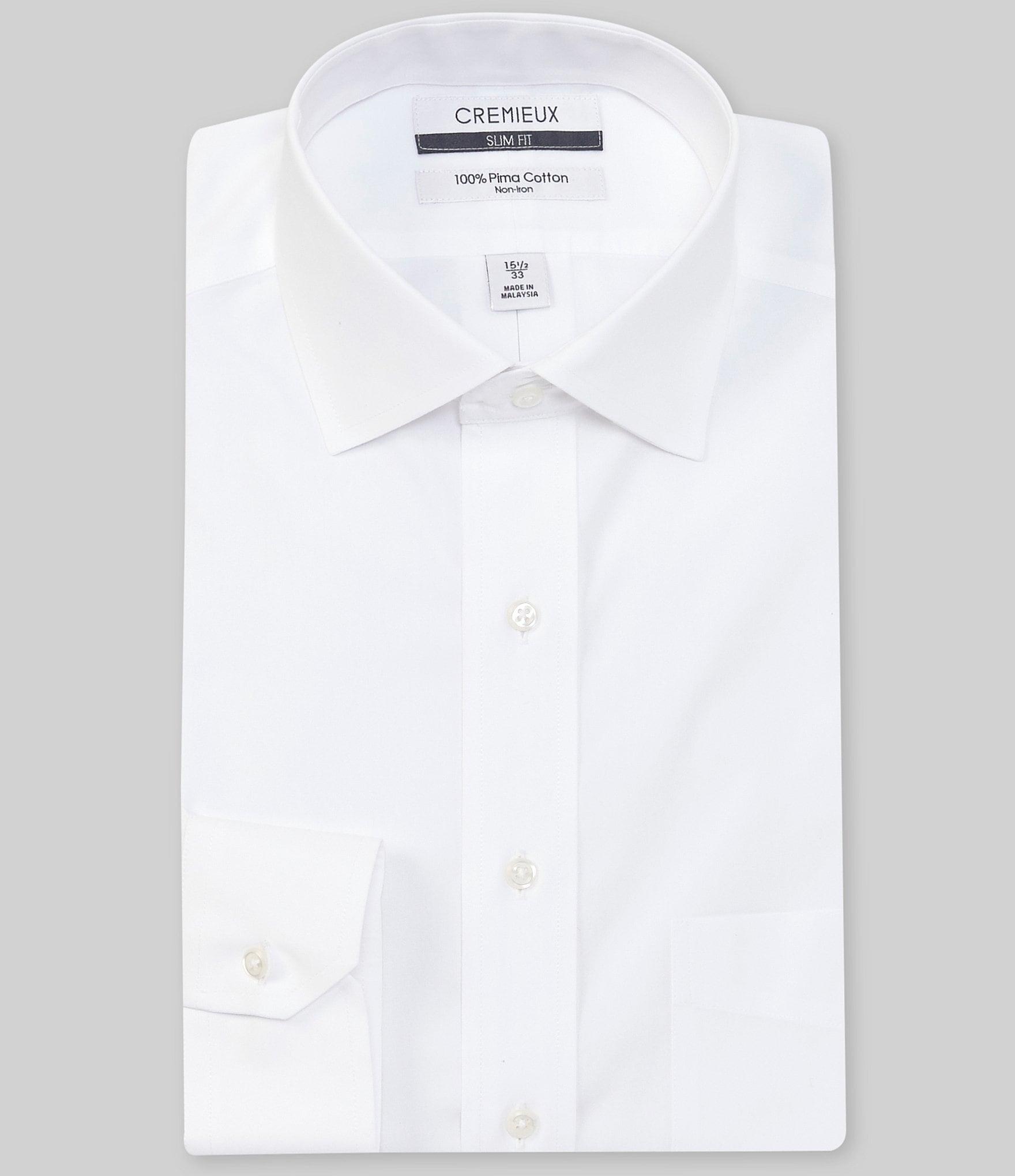 Cremieux Non Iron Slim Fit Spread Collar Solid Dress Shirt