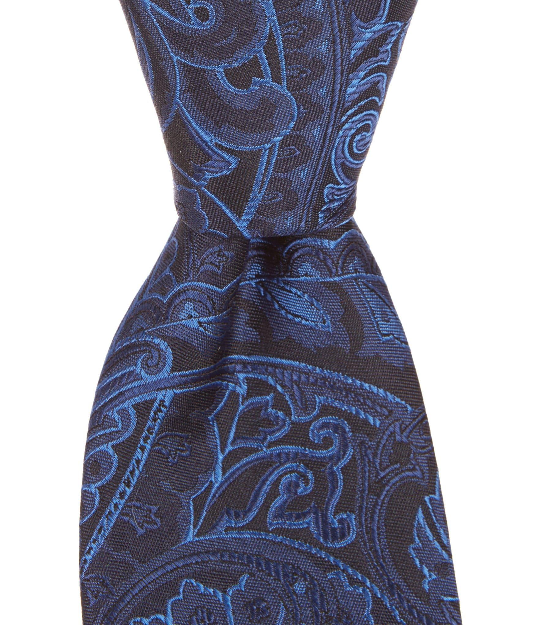 cremieux paisley light narrow silk tie dillards