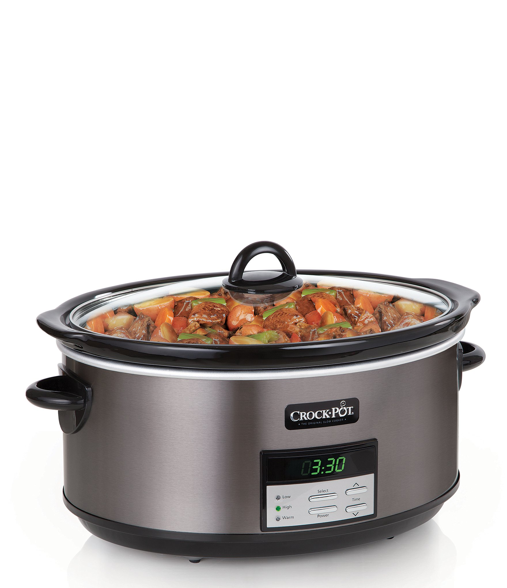 Crock PotCrock Pot Stainless Collection 8 Quart Programmable Slow Cooker