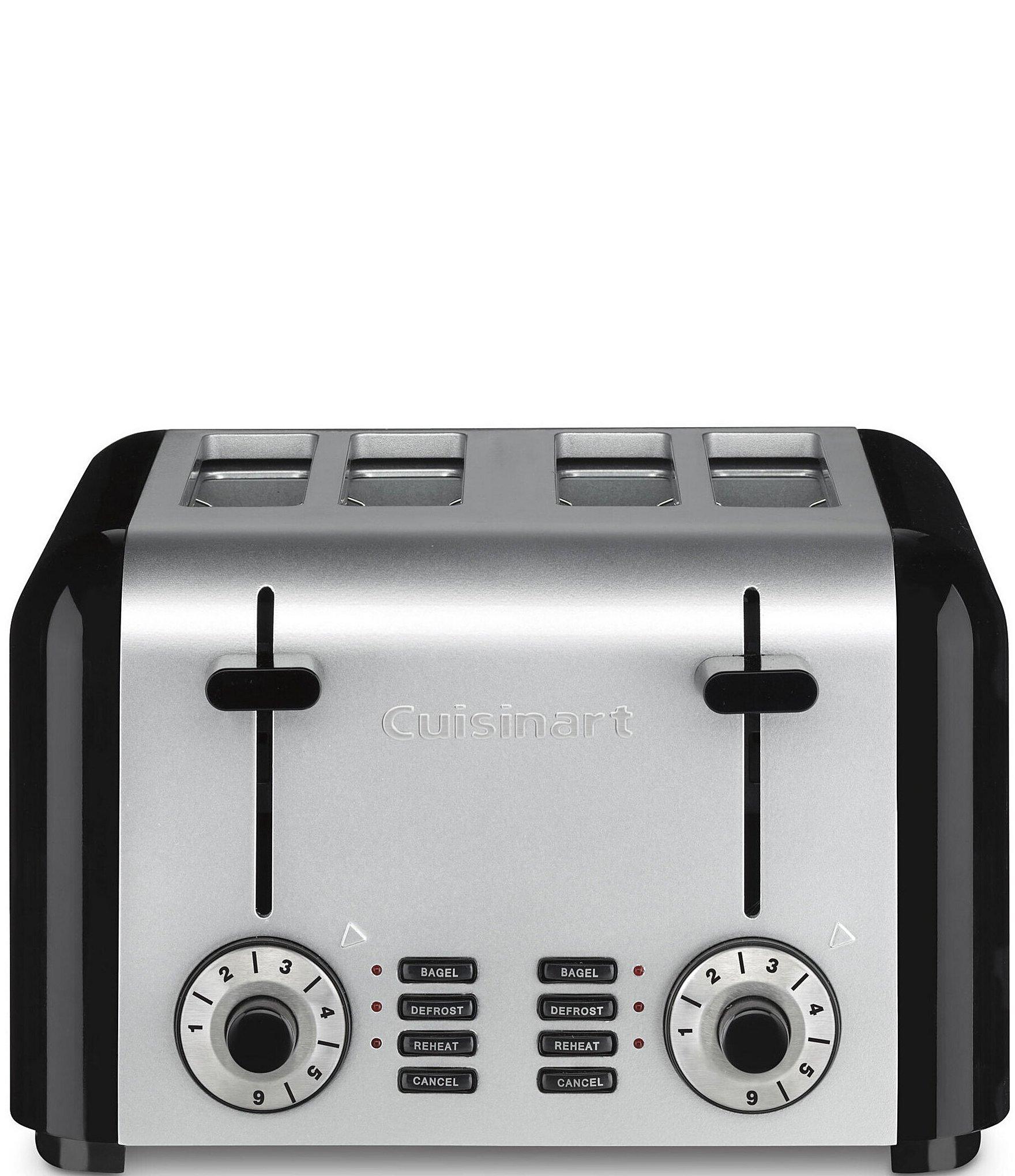 cuisinart stainless steel black 4 slice toaster dillards. Black Bedroom Furniture Sets. Home Design Ideas