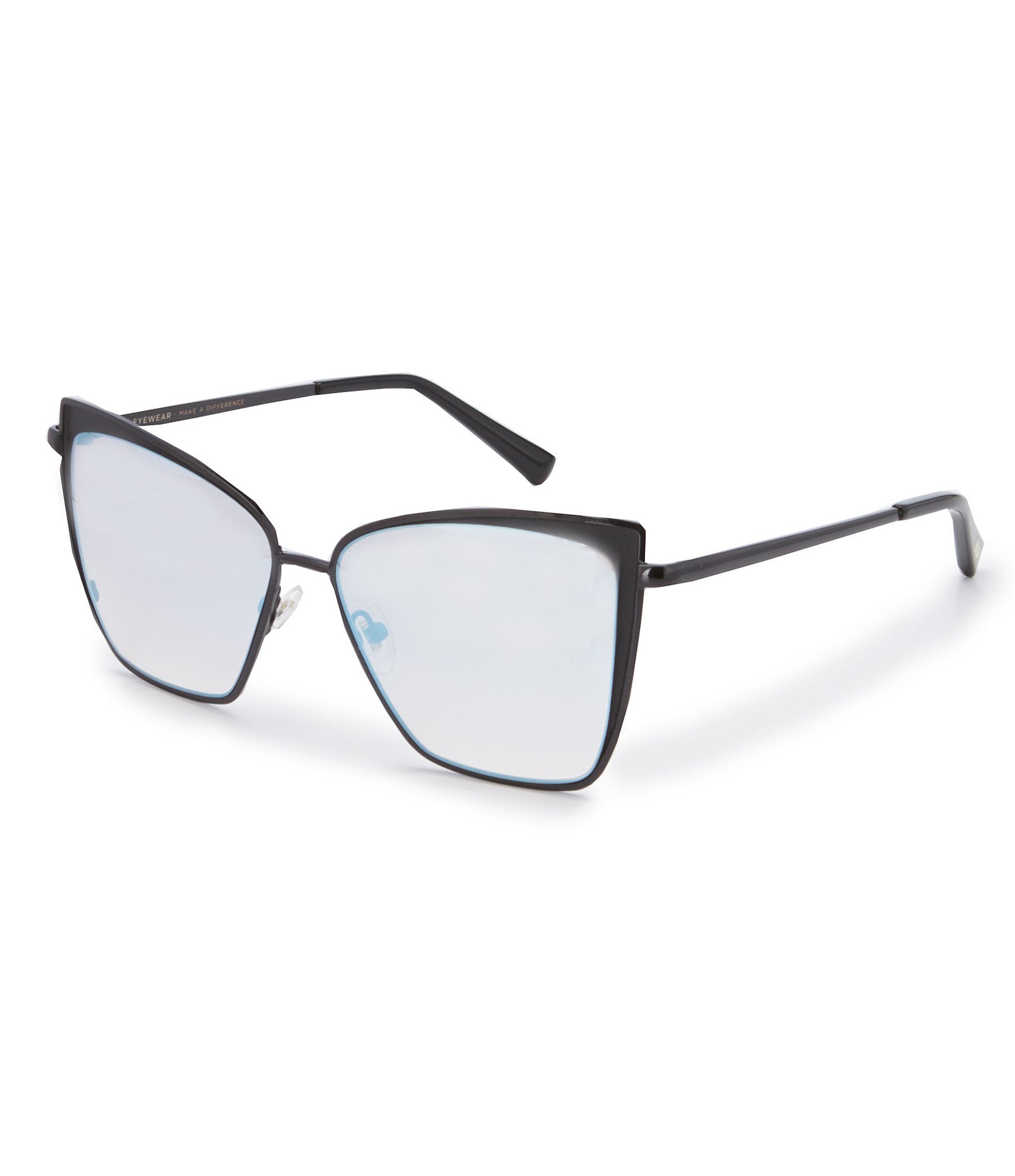 Diff Eyewear Becky Black Flash Grey Gradient Polarized Cat Eye Sunglasses Dillard S