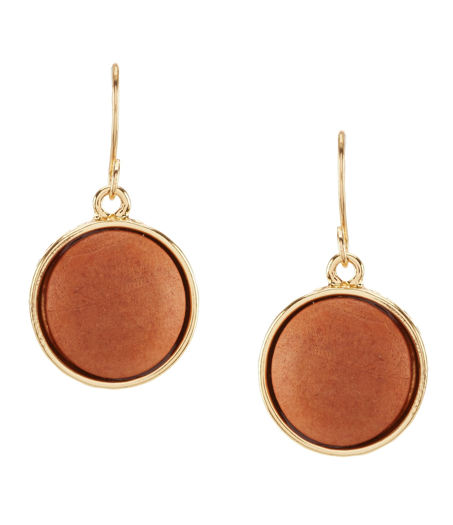 dillard 180 s framed wood drop earrings dillards