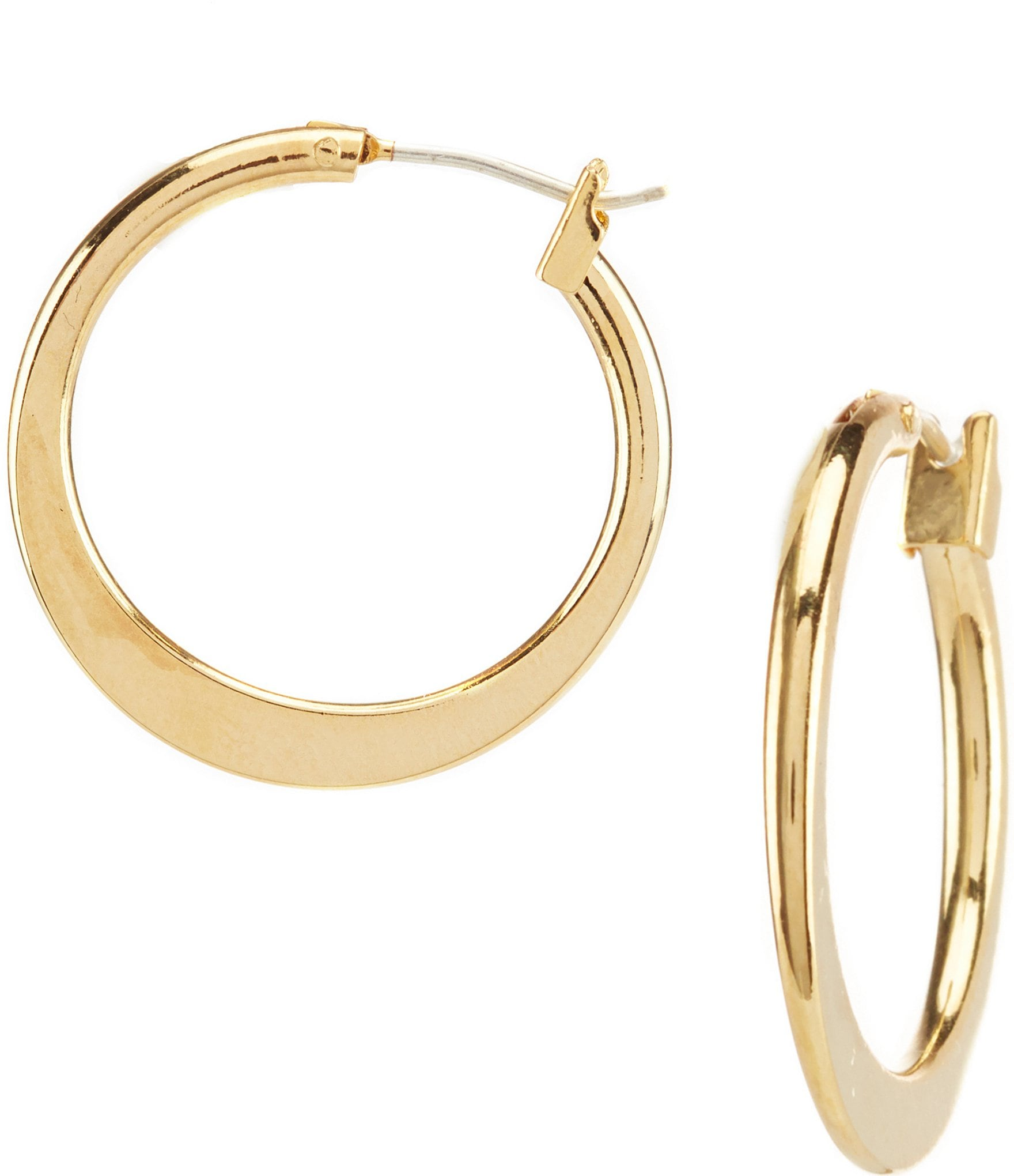 Dillard S Tailored Graduated Hoop Earrings