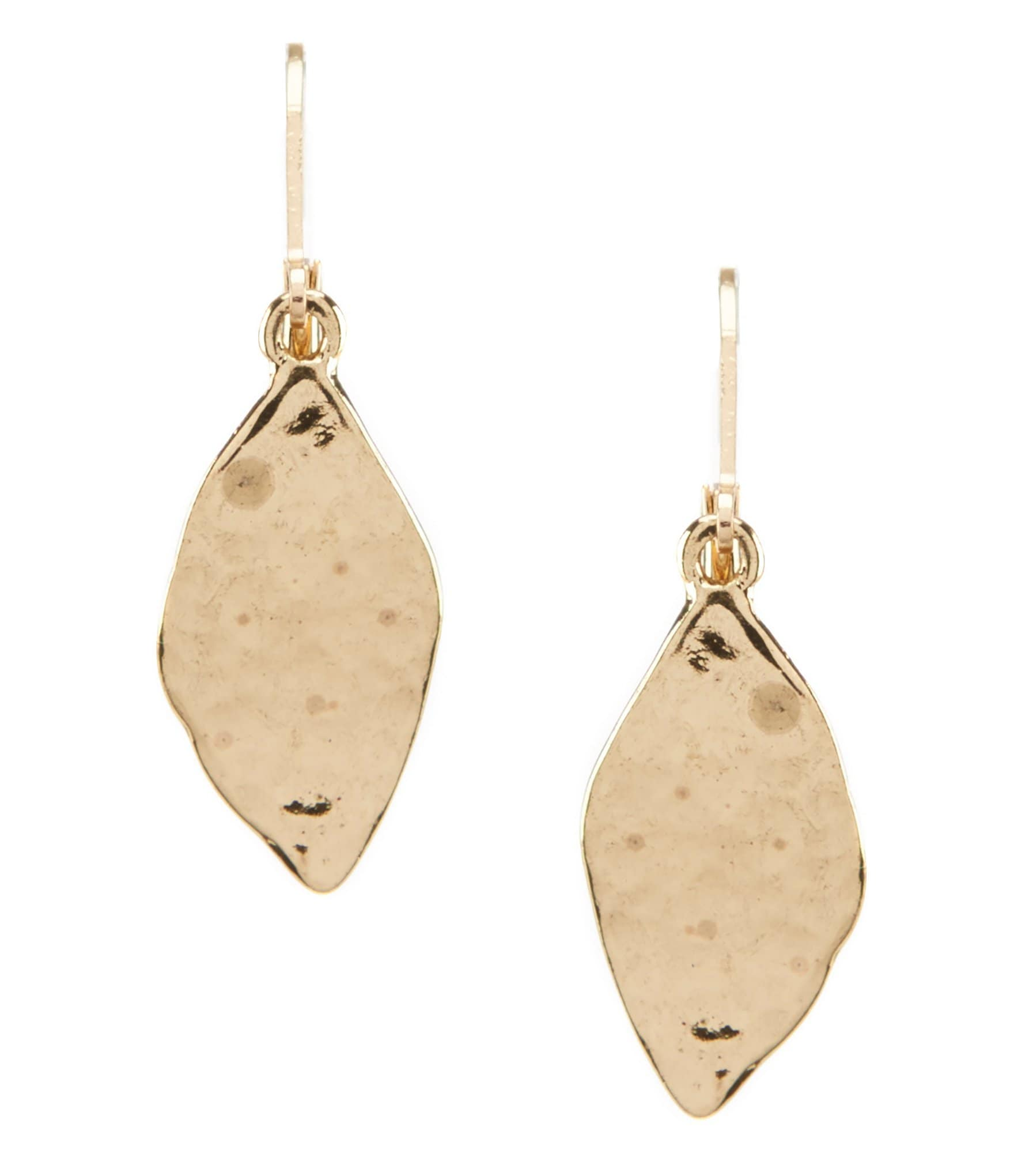 dillard 180 s tailored leaf drop earrings dillards
