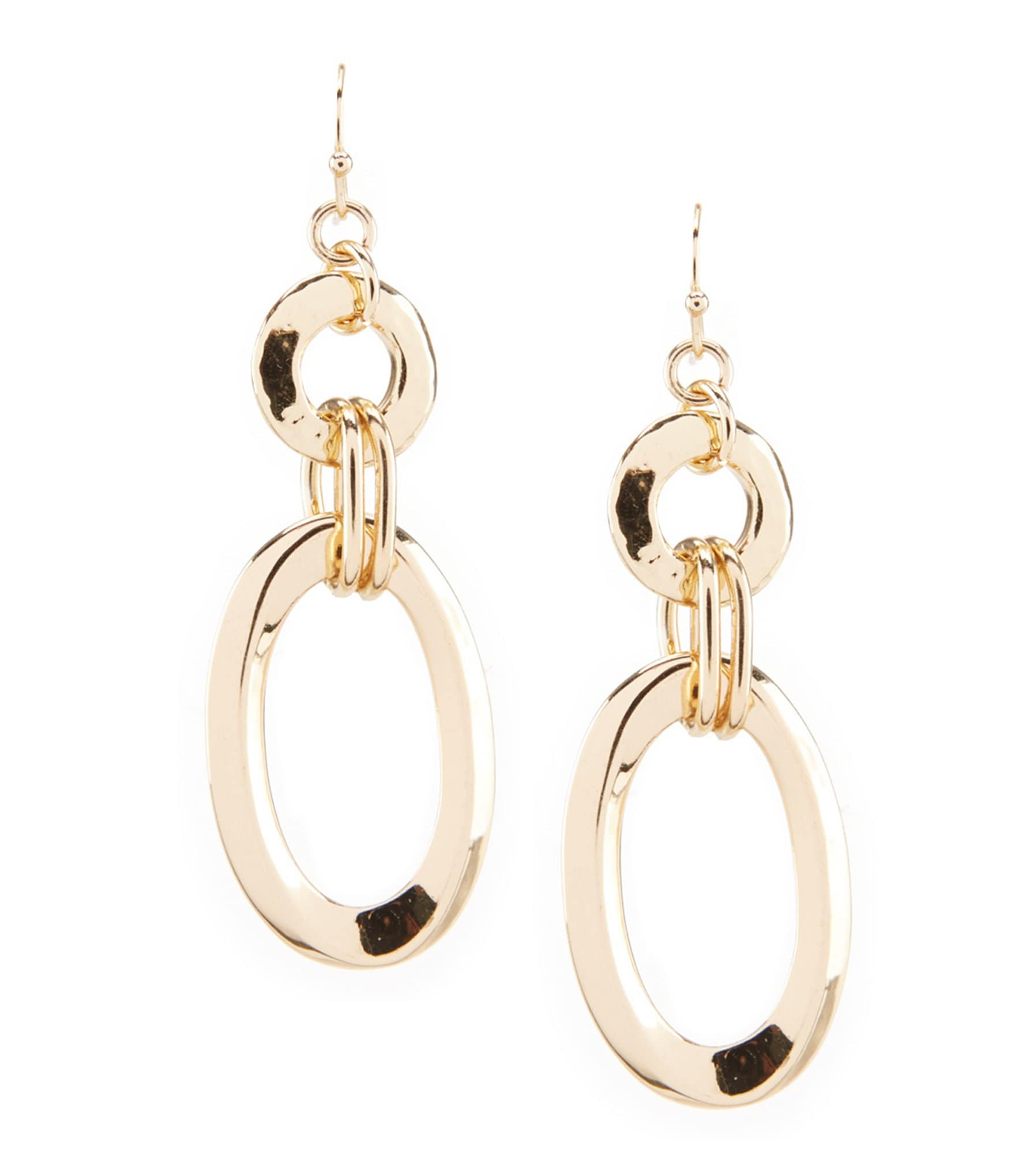 dillard 180 s tailored oval link drop earrings dillards